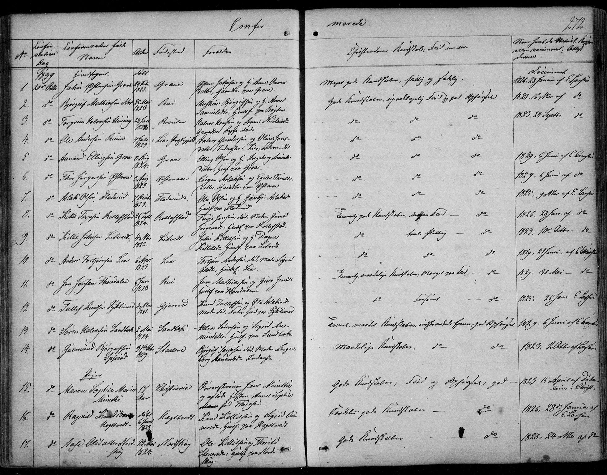SAKO, Kviteseid kirkebøker, F/Fa/L0006: Ministerialbok nr. I 6, 1836-1858, s. 272