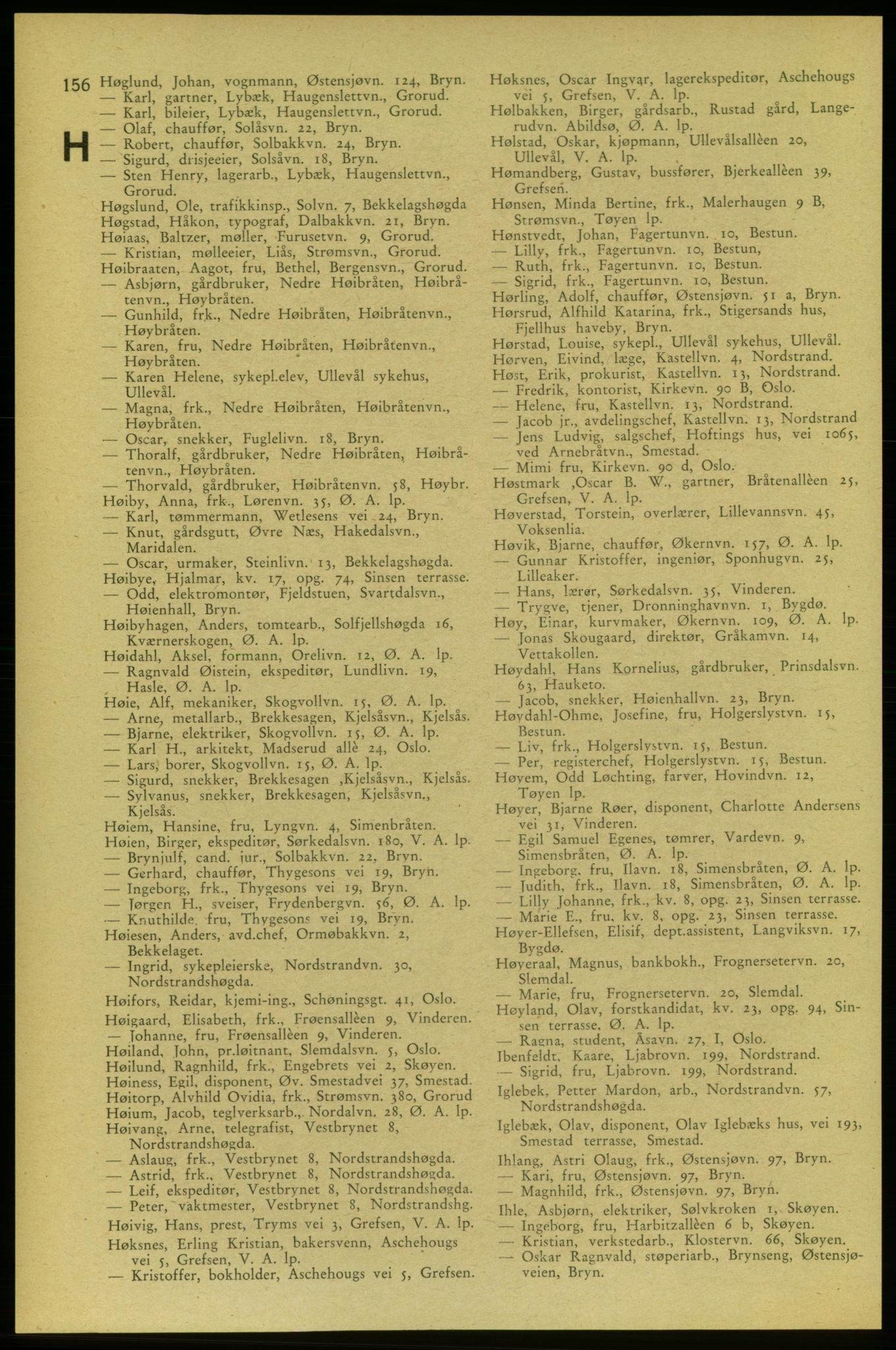 PUBL, Aker adressebok/adressekalender, 1937-1938, s. 156