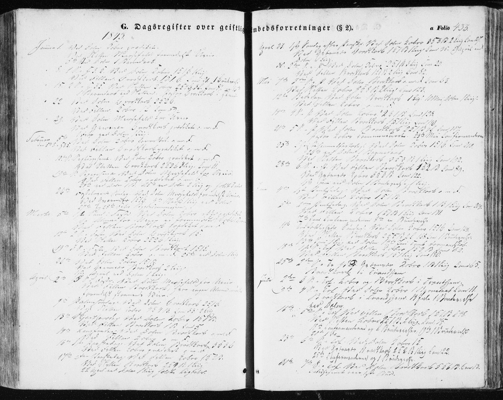 SAT, Ministerialprotokoller, klokkerbøker og fødselsregistre - Sør-Trøndelag, 634/L0529: Ministerialbok nr. 634A05, 1843-1851, s. 433