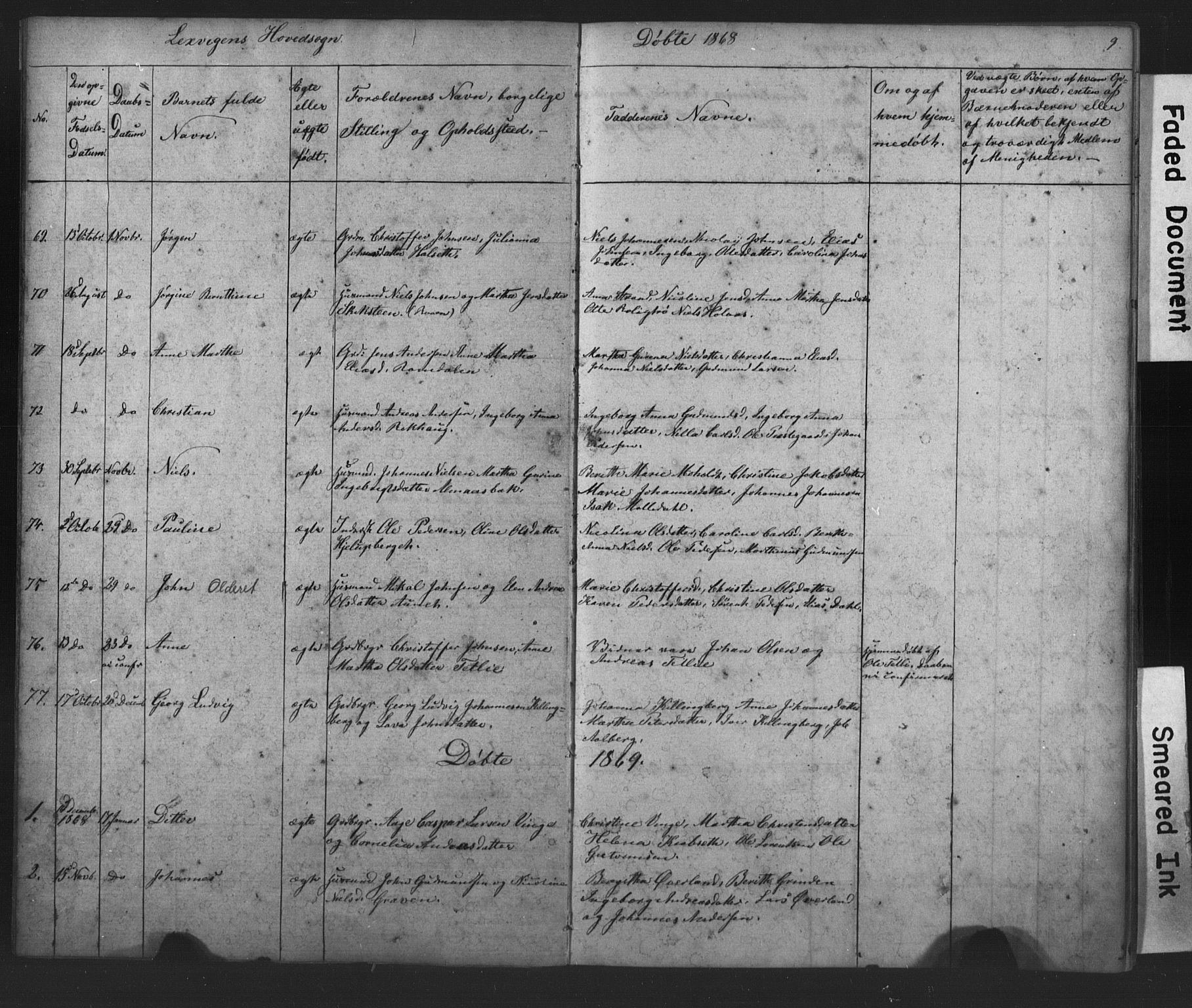 SAT, Ministerialprotokoller, klokkerbøker og fødselsregistre - Nord-Trøndelag, 701/L0018: Klokkerbok nr. 701C02, 1868-1872, s. 9