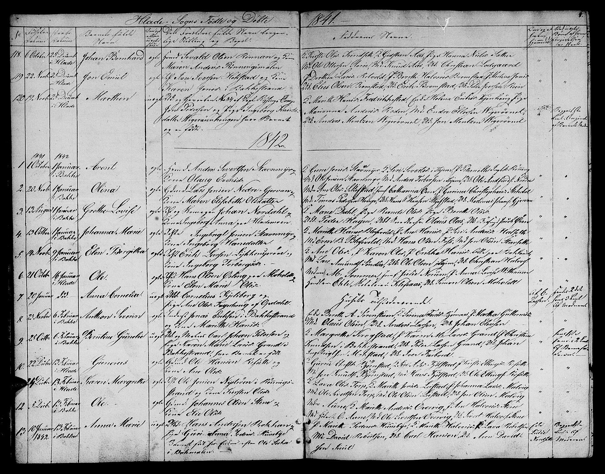 SAT, Ministerialprotokoller, klokkerbøker og fødselsregistre - Sør-Trøndelag, 606/L0309: Klokkerbok nr. 606C05, 1841-1849, s. 8