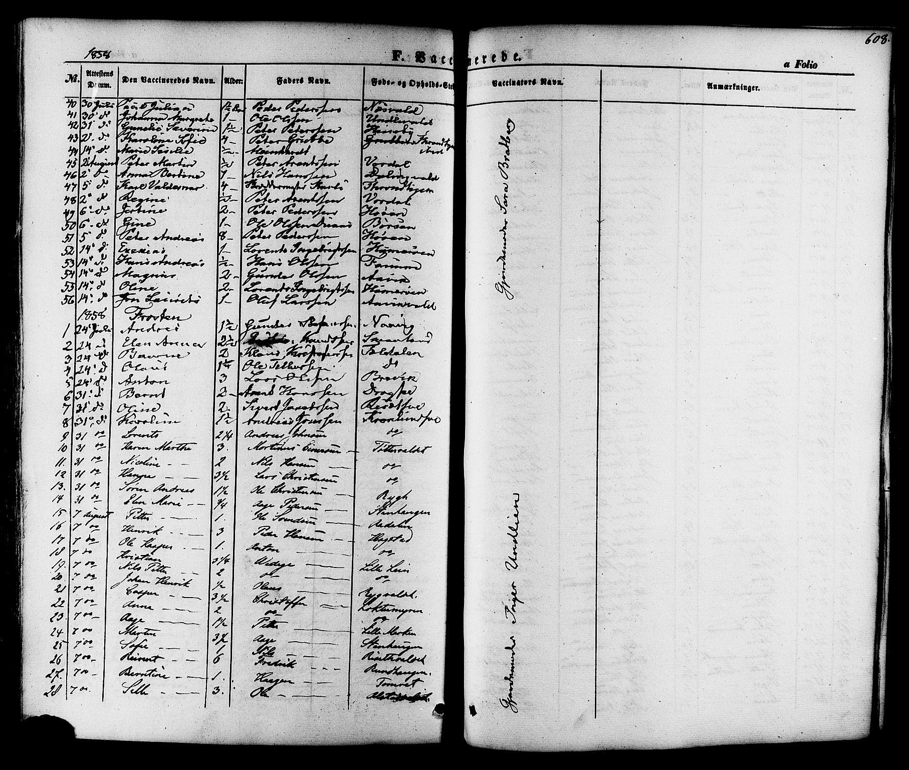 SAT, Ministerialprotokoller, klokkerbøker og fødselsregistre - Nord-Trøndelag, 713/L0116: Ministerialbok nr. 713A07 /1, 1850-1877, s. 608