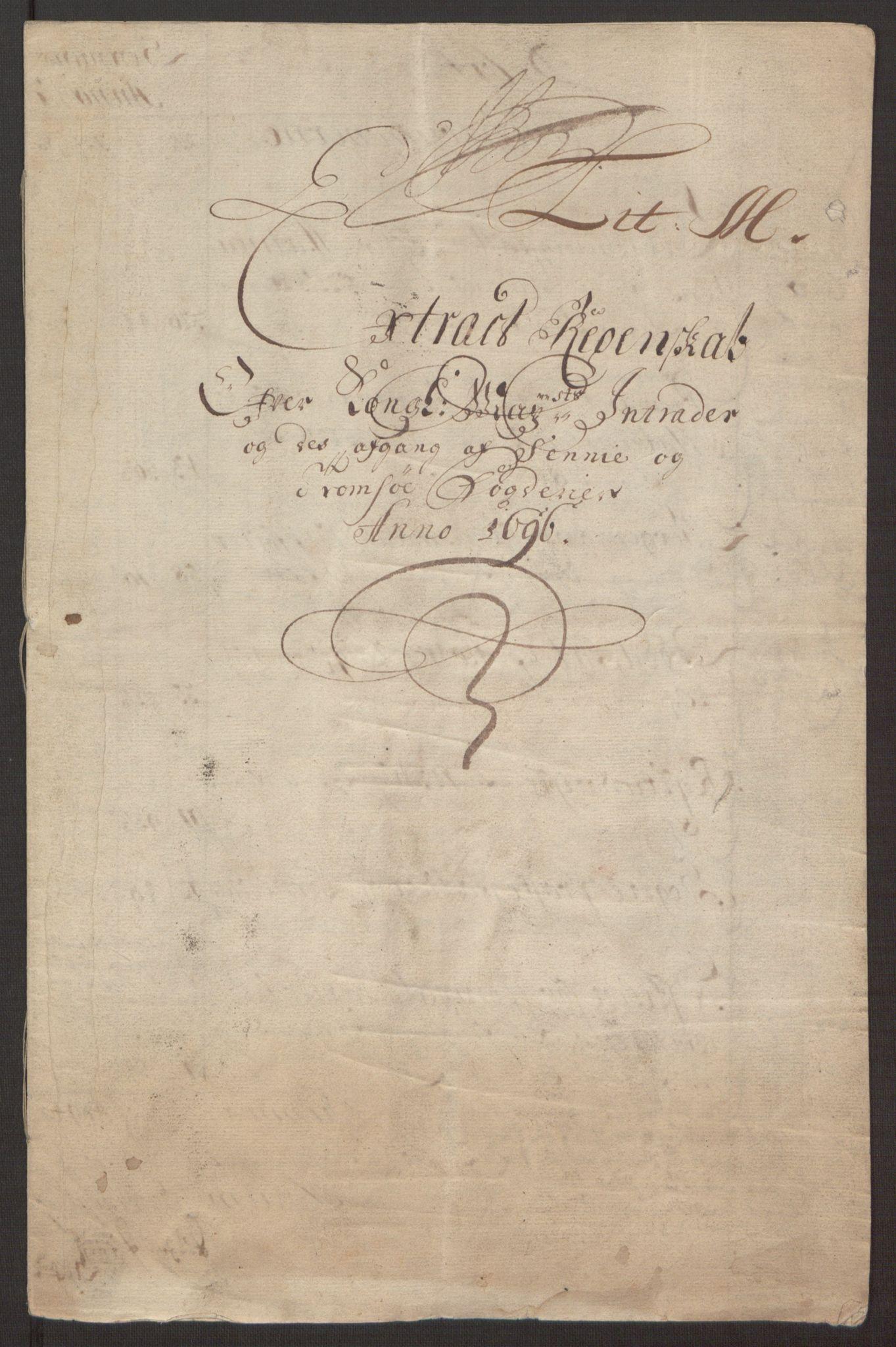 RA, Rentekammeret inntil 1814, Reviderte regnskaper, Fogderegnskap, R68/L4753: Fogderegnskap Senja og Troms, 1694-1696, s. 229