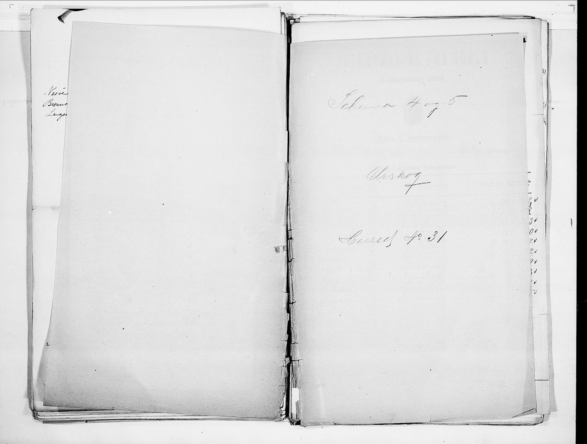 SAO, Folketelling 1900 for 0224 Aurskog herred, 1900, s. 1