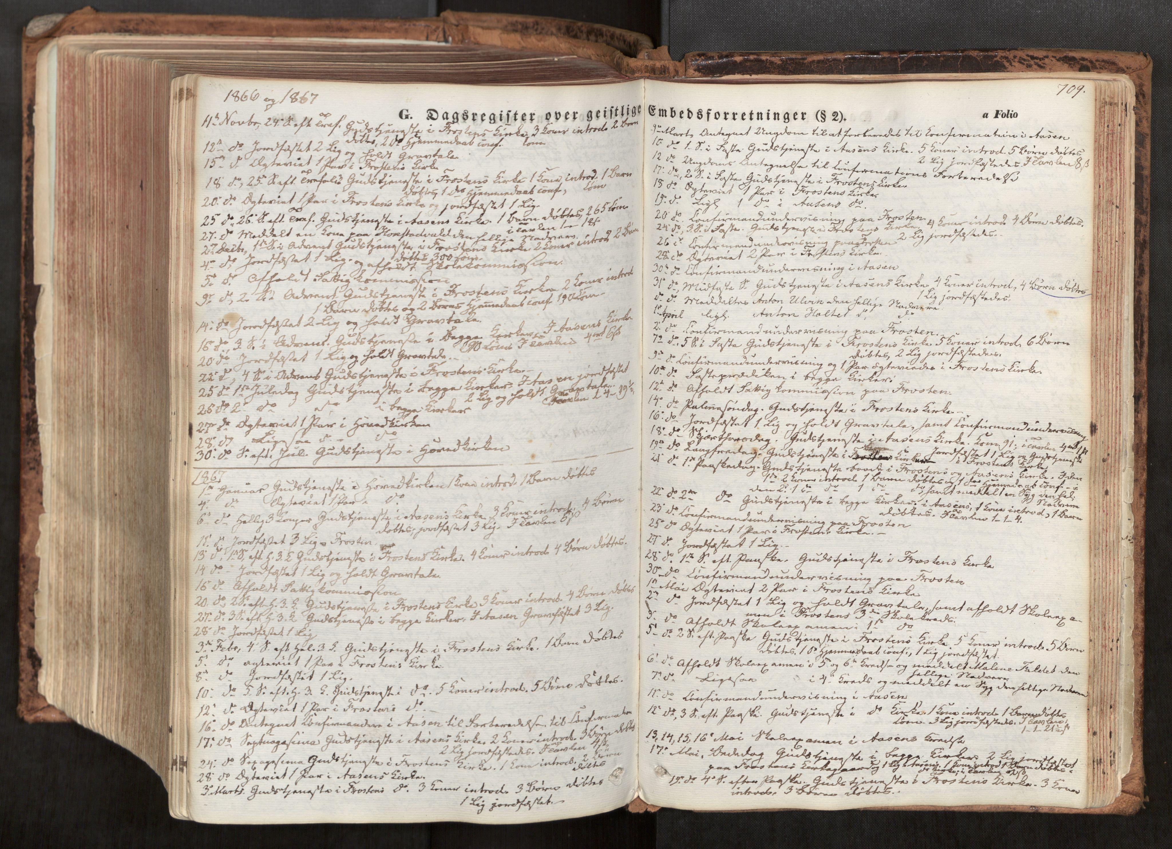 SAT, Ministerialprotokoller, klokkerbøker og fødselsregistre - Nord-Trøndelag, 713/L0116: Ministerialbok nr. 713A07, 1850-1877, s. 709