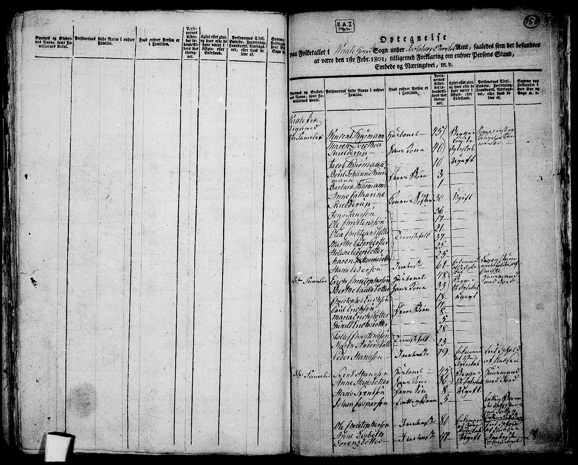 RA, Folketelling 1801 for 0716P Våle prestegjeld, 1801, s. 149b-150a