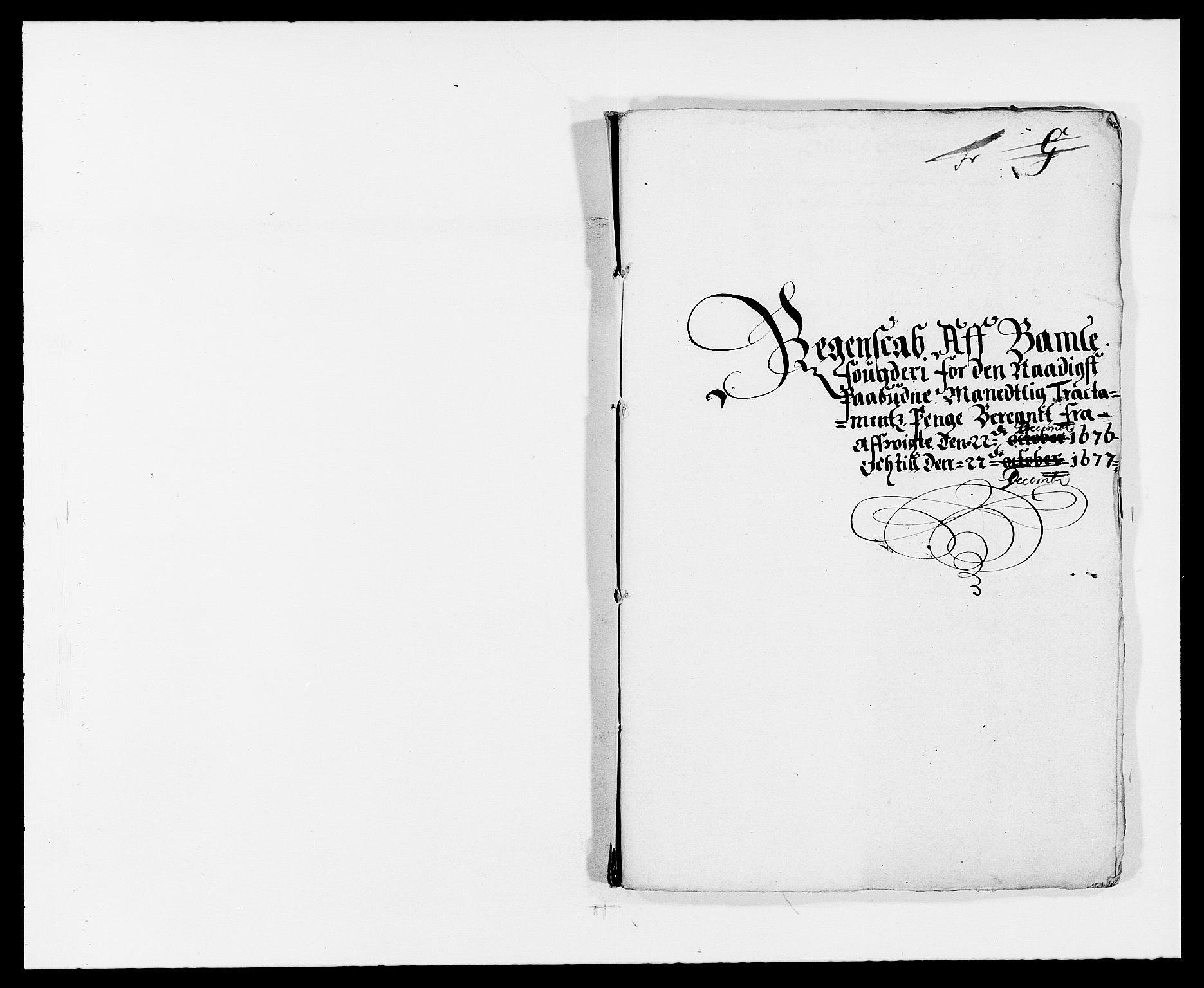 RA, Rentekammeret inntil 1814, Reviderte regnskaper, Fogderegnskap, R34/L2043: Fogderegnskap Bamble, 1676-1677, s. 361