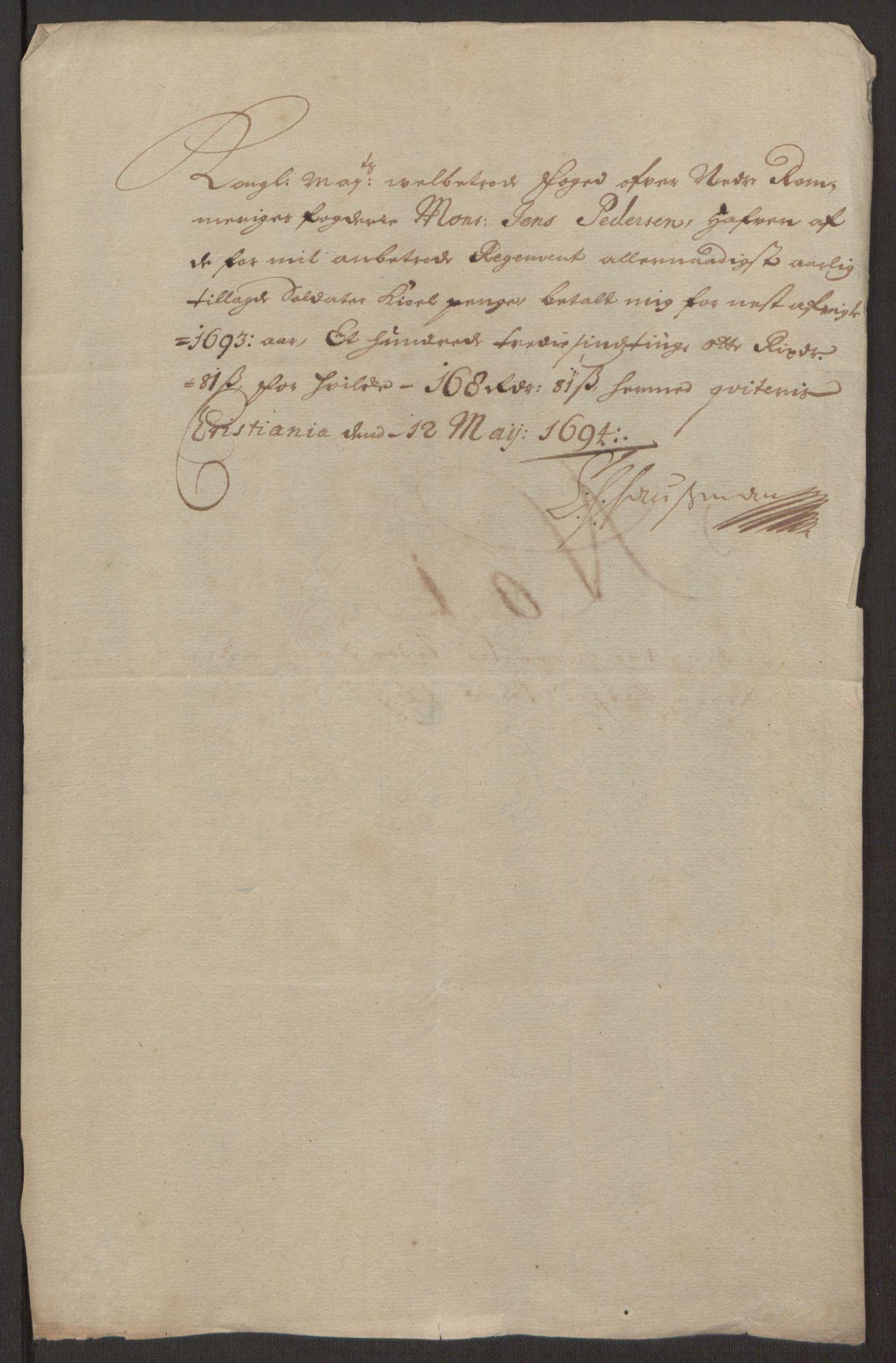 RA, Rentekammeret inntil 1814, Reviderte regnskaper, Fogderegnskap, R11/L0578: Fogderegnskap Nedre Romerike, 1693, s. 206