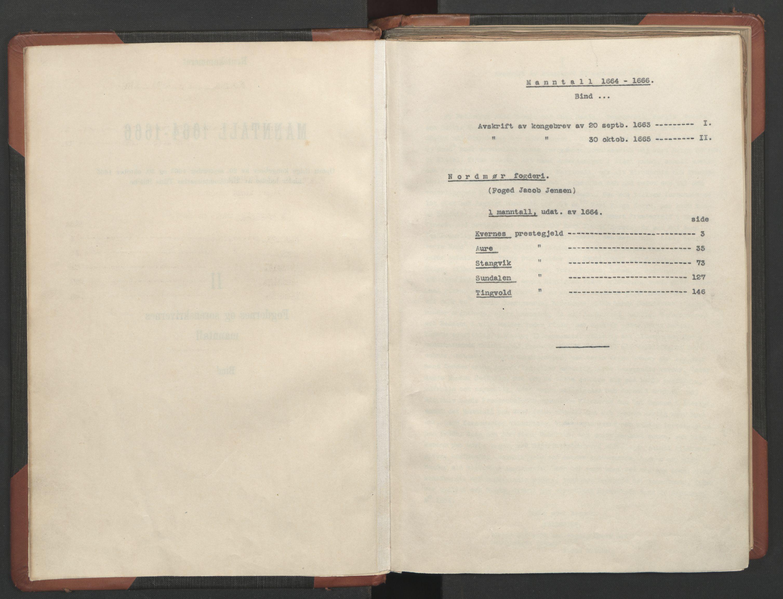 RA, Fogdenes og sorenskrivernes manntall 1664-1666, nr. 17: Nordmøre fogderi, 1664, s. upaginert