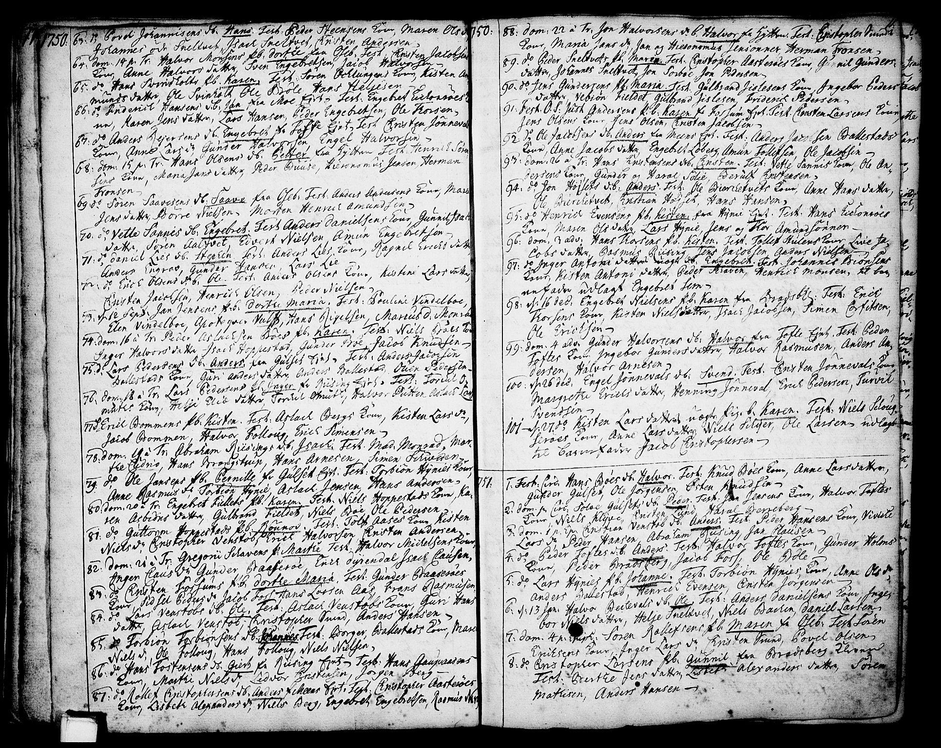 SAKO, Gjerpen kirkebøker, F/Fa/L0002: Ministerialbok nr. 2, 1747-1795, s. 11