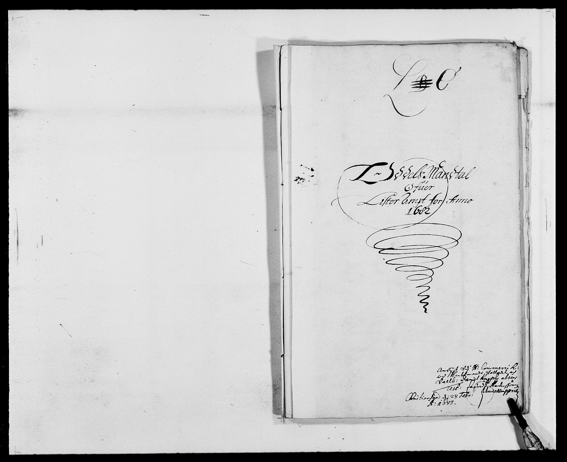 RA, Rentekammeret inntil 1814, Reviderte regnskaper, Fogderegnskap, R41/L2531: Fogderegnskap Lista, 1680-1682, s. 182