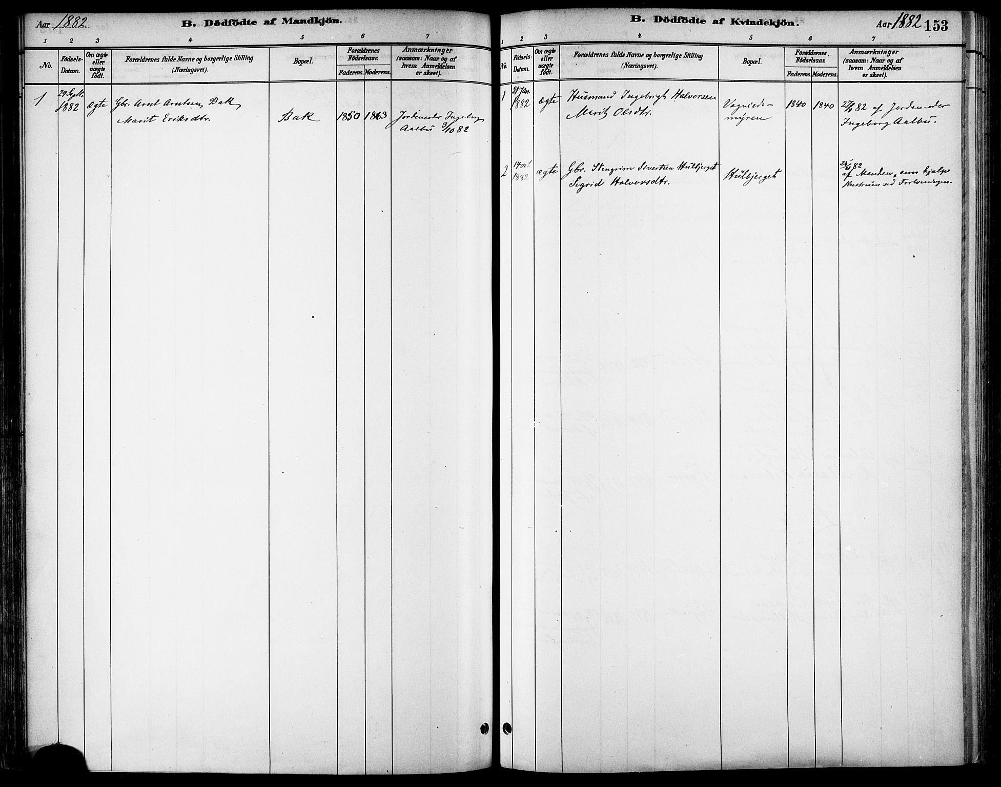 SAT, Ministerialprotokoller, klokkerbøker og fødselsregistre - Sør-Trøndelag, 678/L0901: Ministerialbok nr. 678A10, 1881-1894, s. 153