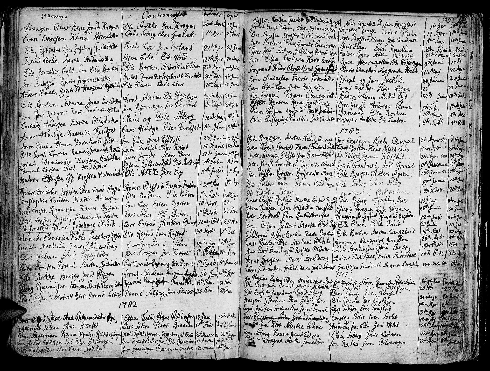 SAT, Ministerialprotokoller, klokkerbøker og fødselsregistre - Sør-Trøndelag, 691/L1061: Ministerialbok nr. 691A02 /1, 1768-1815, s. 185