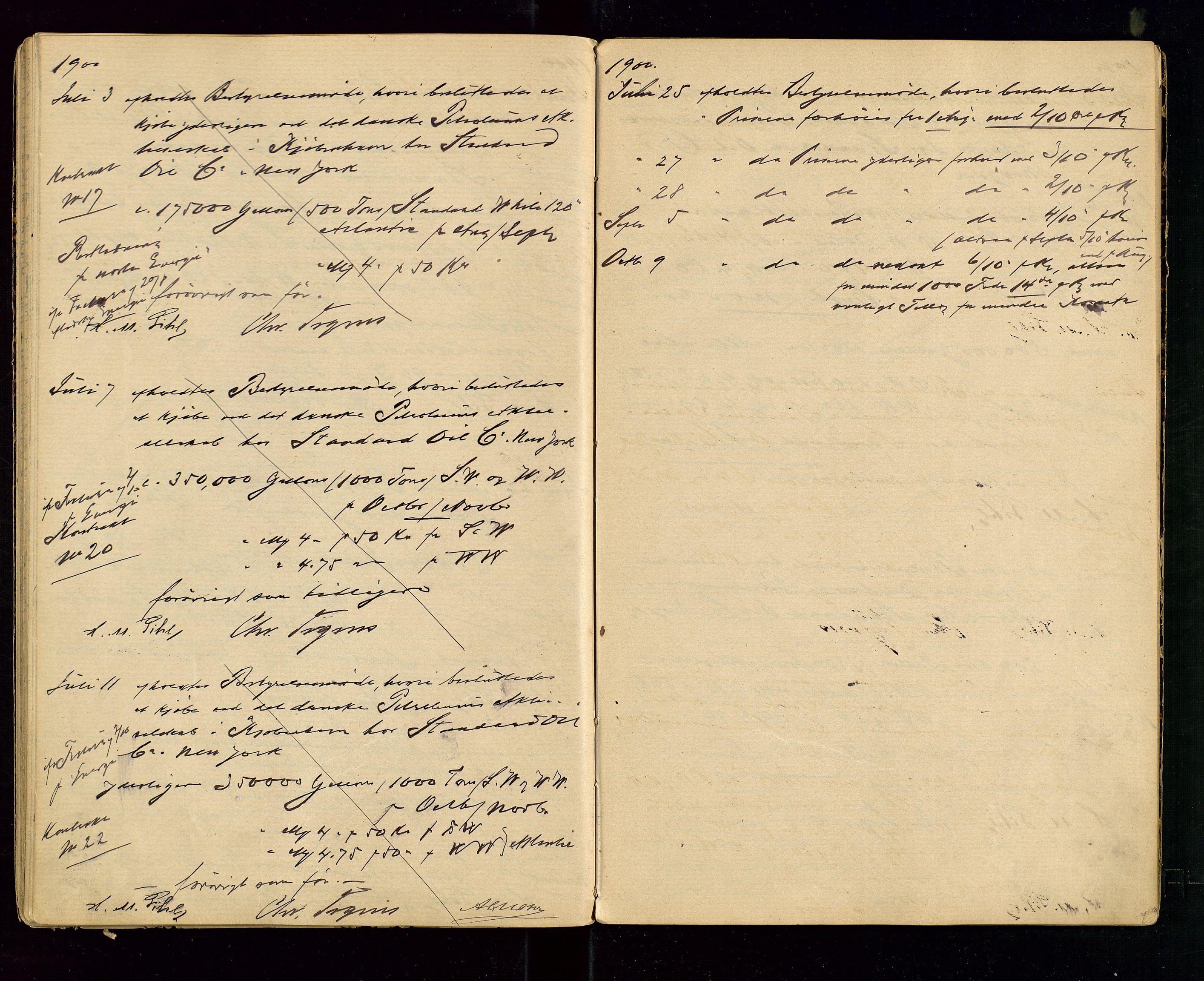 SAST, PA 1533 - A/S Vestlandske Petroleumscompani, A/Aa/L0001: Generalforsamlinger og styreprotokoller, 1890-1907, s. 40