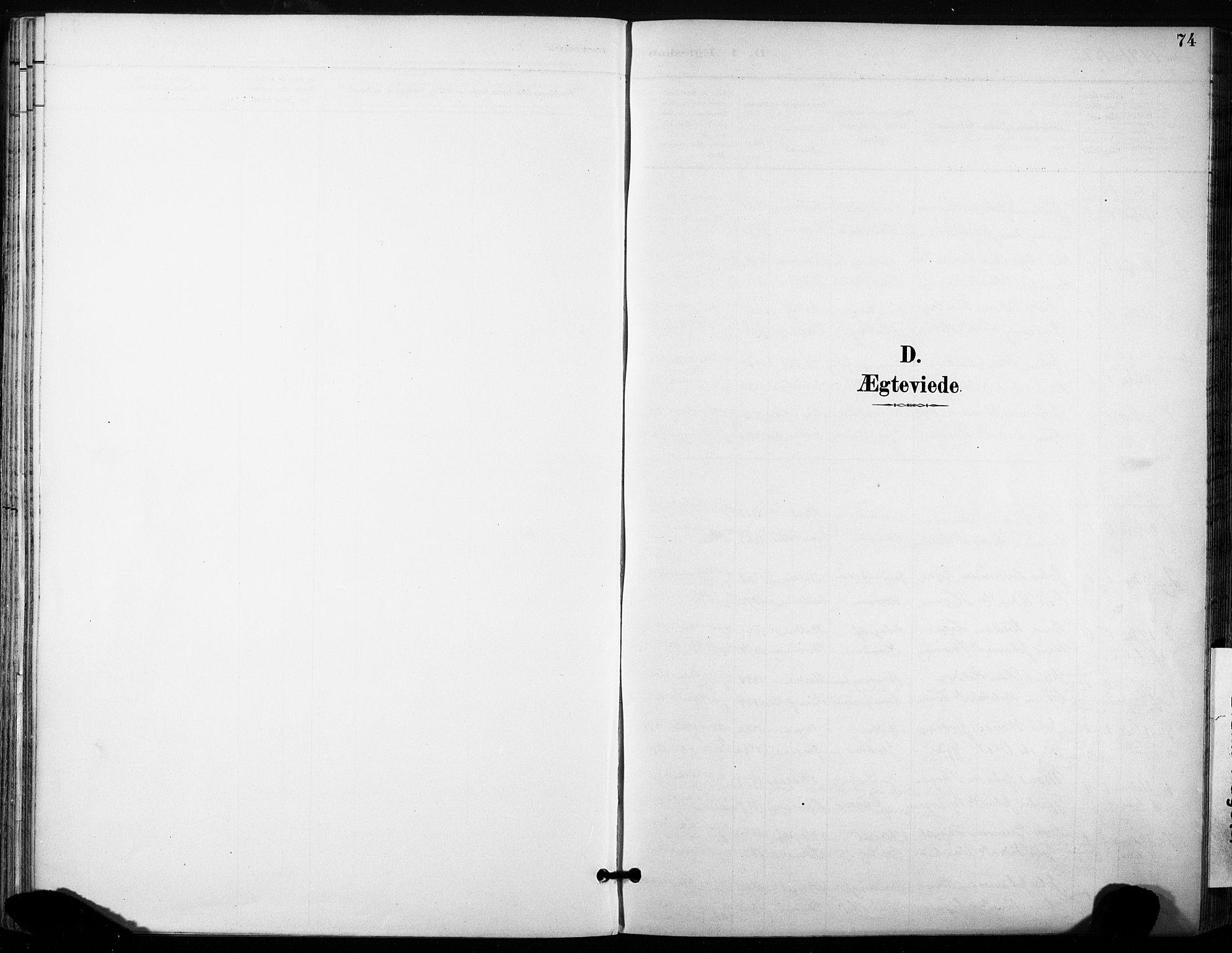 SAT, Ministerialprotokoller, klokkerbøker og fødselsregistre - Sør-Trøndelag, 685/L0973: Ministerialbok nr. 685A10, 1891-1907, s. 74