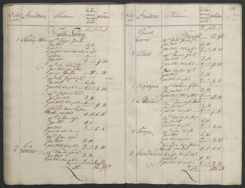 RA, Rentekammeret inntil 1814, Realistisk ordnet avdeling, Ol/L0023: [Gg 10]: Ekstraskatten, 23.09.1762. Helgeland (restanseregister), 1767-1772, s. 153