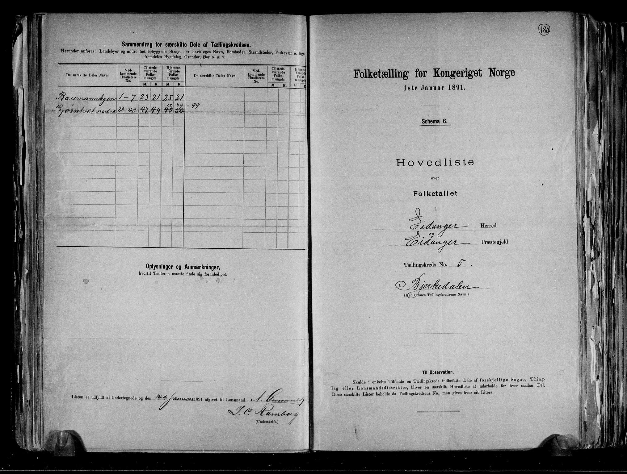 RA, Folketelling 1891 for 0813 Eidanger herred, 1891, s. 16