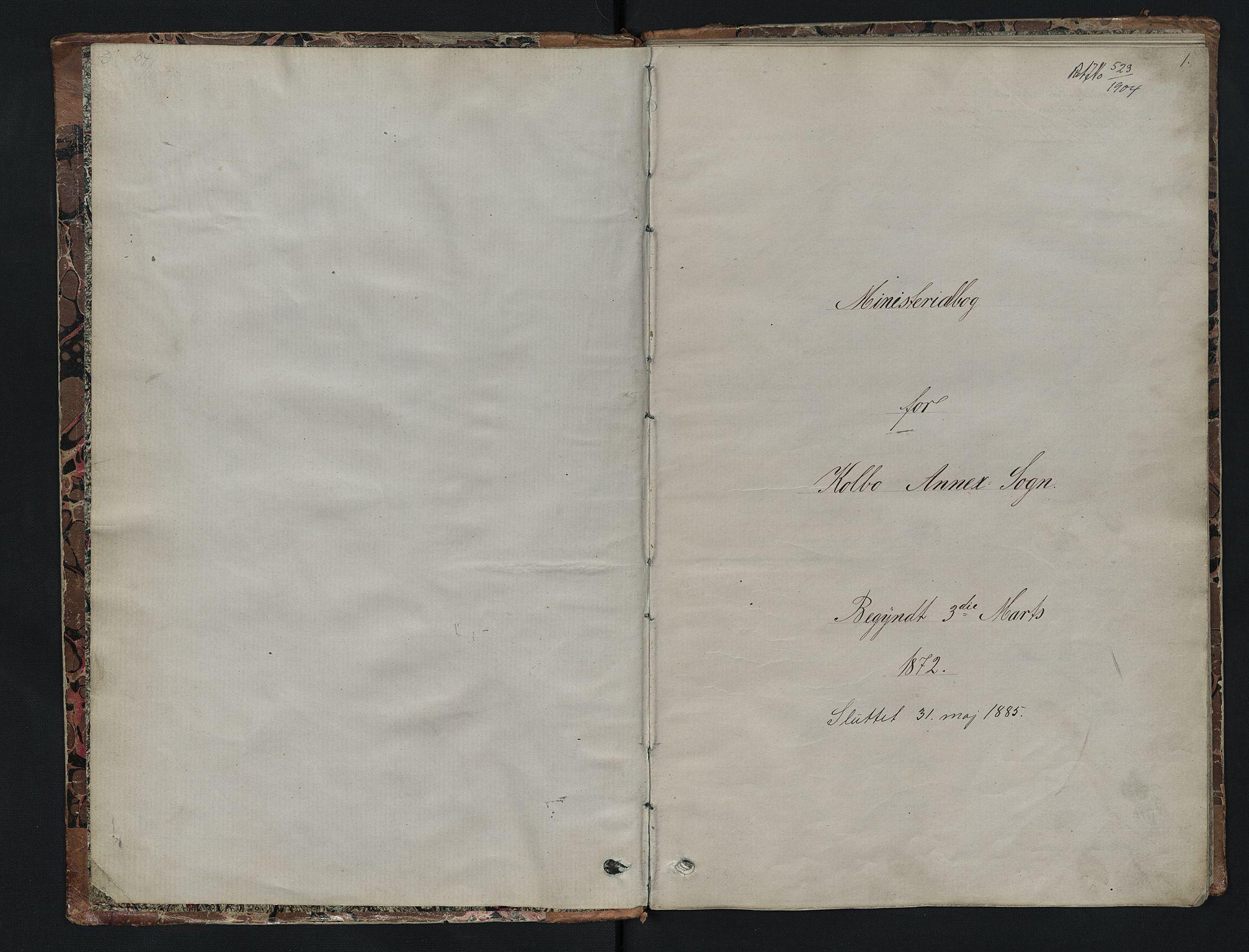 SAH, Vestre Toten prestekontor, Klokkerbok nr. 7, 1872-1900, s. 0-1