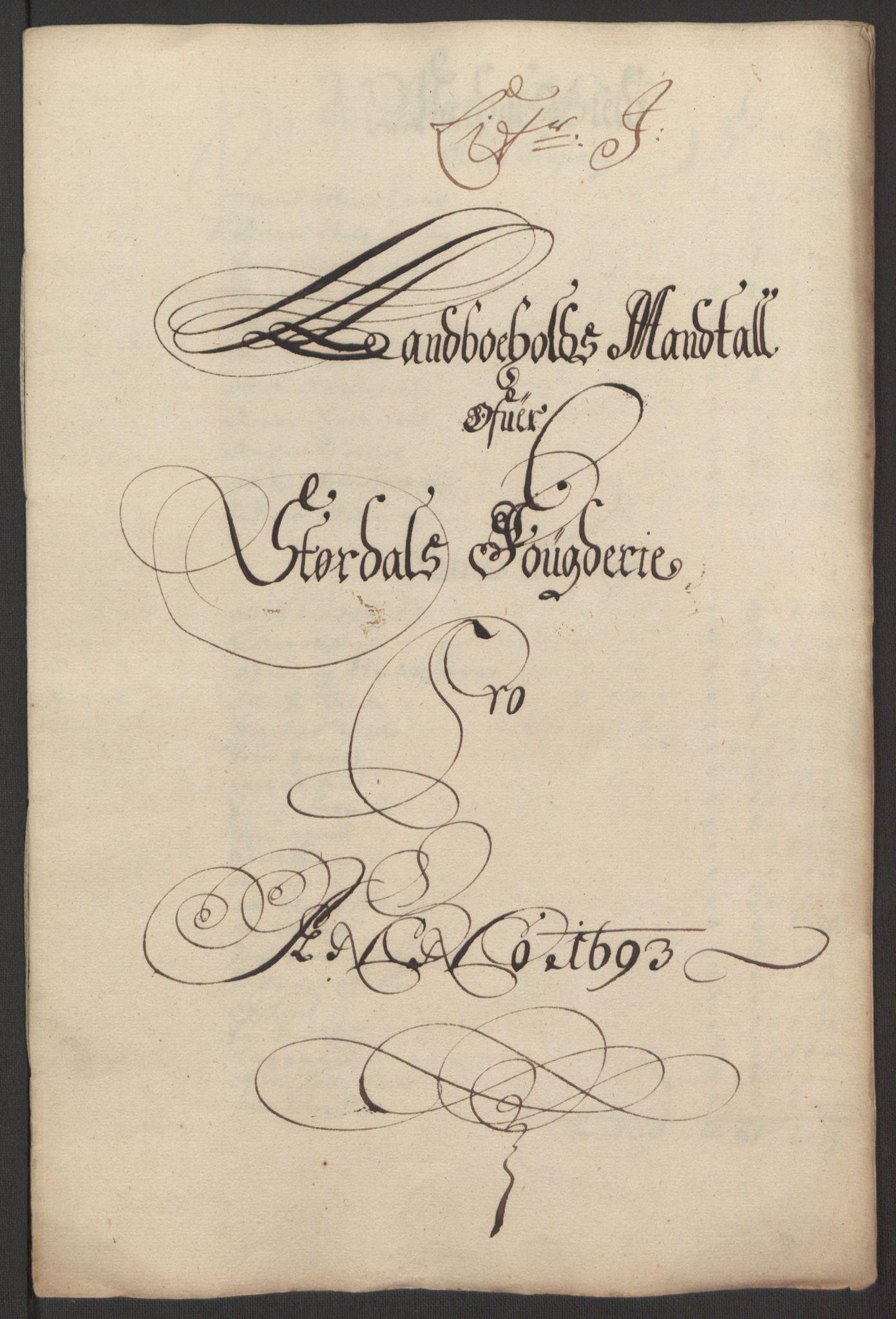 RA, Rentekammeret inntil 1814, Reviderte regnskaper, Fogderegnskap, R62/L4186: Fogderegnskap Stjørdal og Verdal, 1693-1694, s. 120