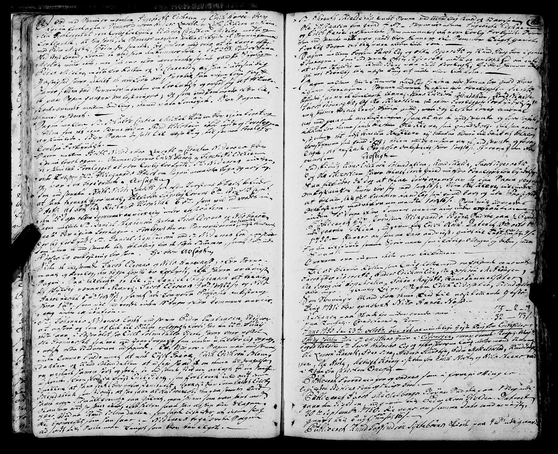 SAT, Romsdal sorenskriveri, 1/1A/L0013: Tingbok, 1749-1757, s. 62-63