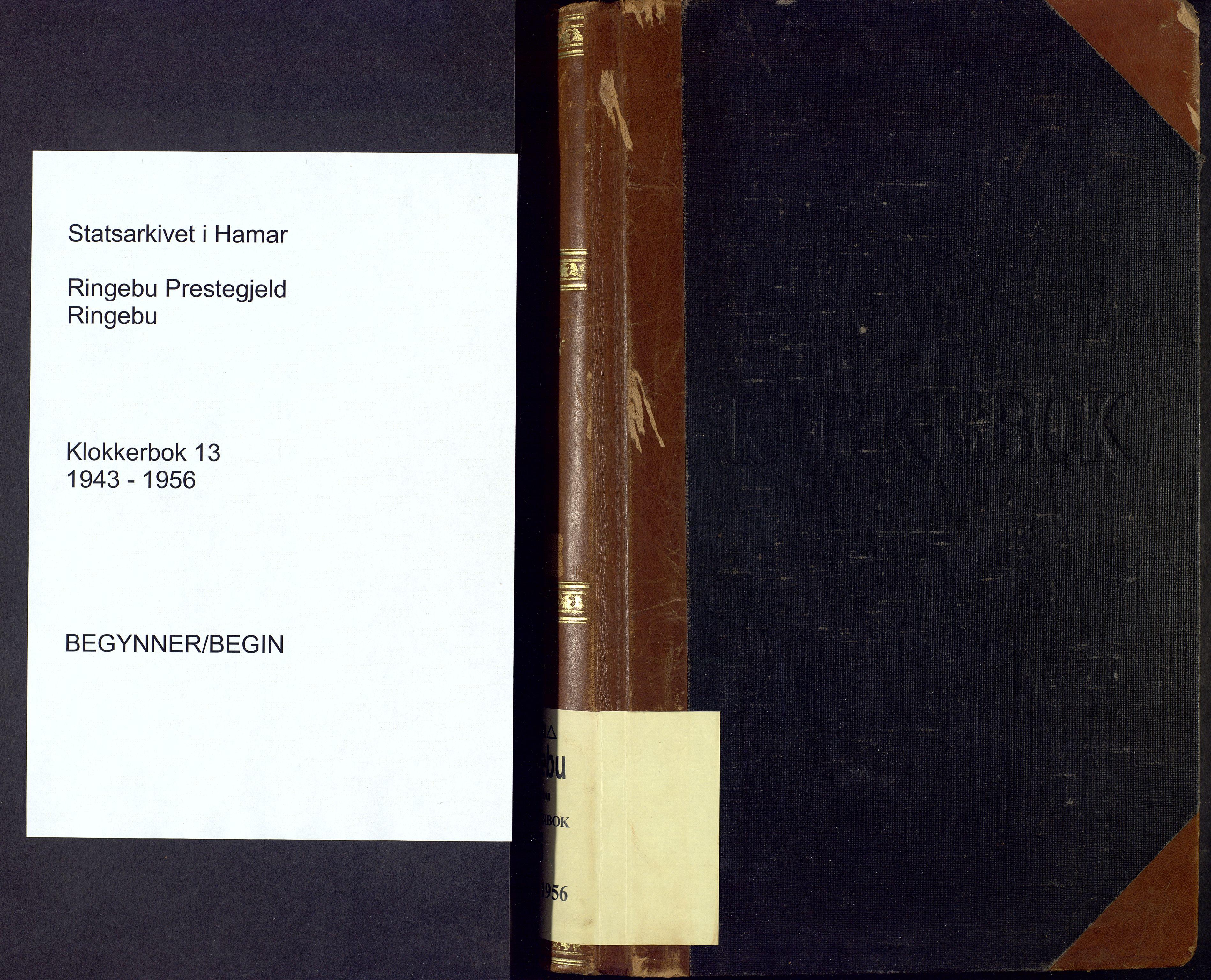 SAH, Ringebu prestekontor, Klokkerbok nr. 13, 1943-1956