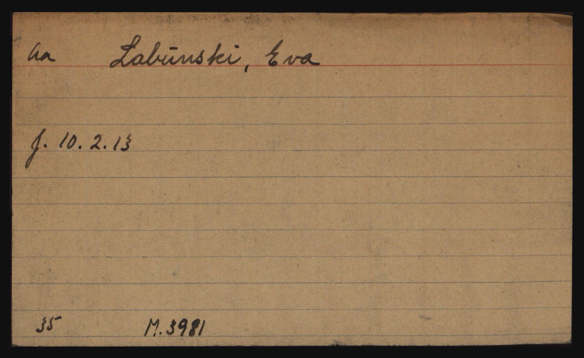 RA, Befehlshaber der Sicherheitspolizei und des SD, E/Ec/L0002: Fangeregister L-Ø, 1940-1945