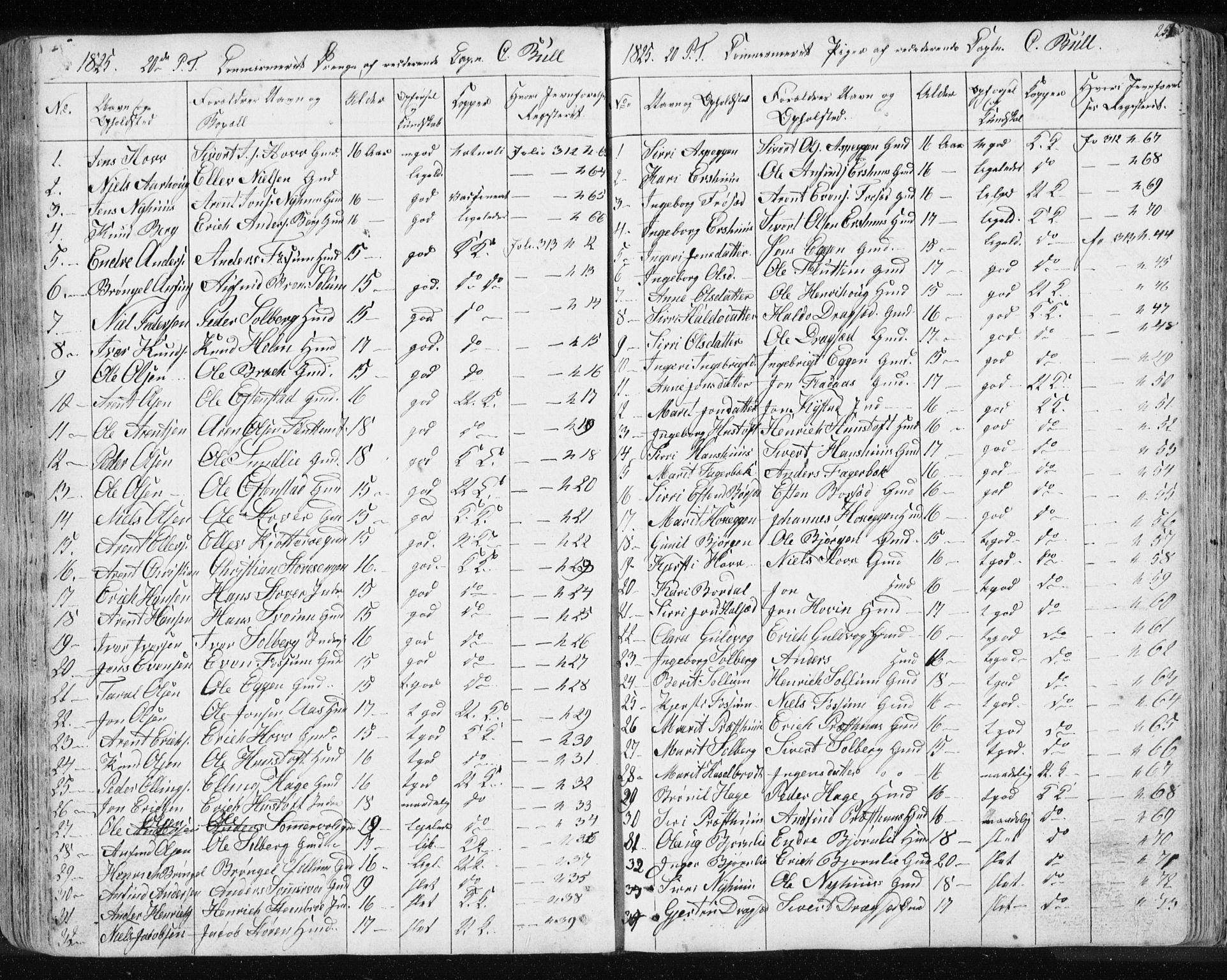 SAT, Ministerialprotokoller, klokkerbøker og fødselsregistre - Sør-Trøndelag, 689/L1043: Klokkerbok nr. 689C02, 1816-1892, s. 254