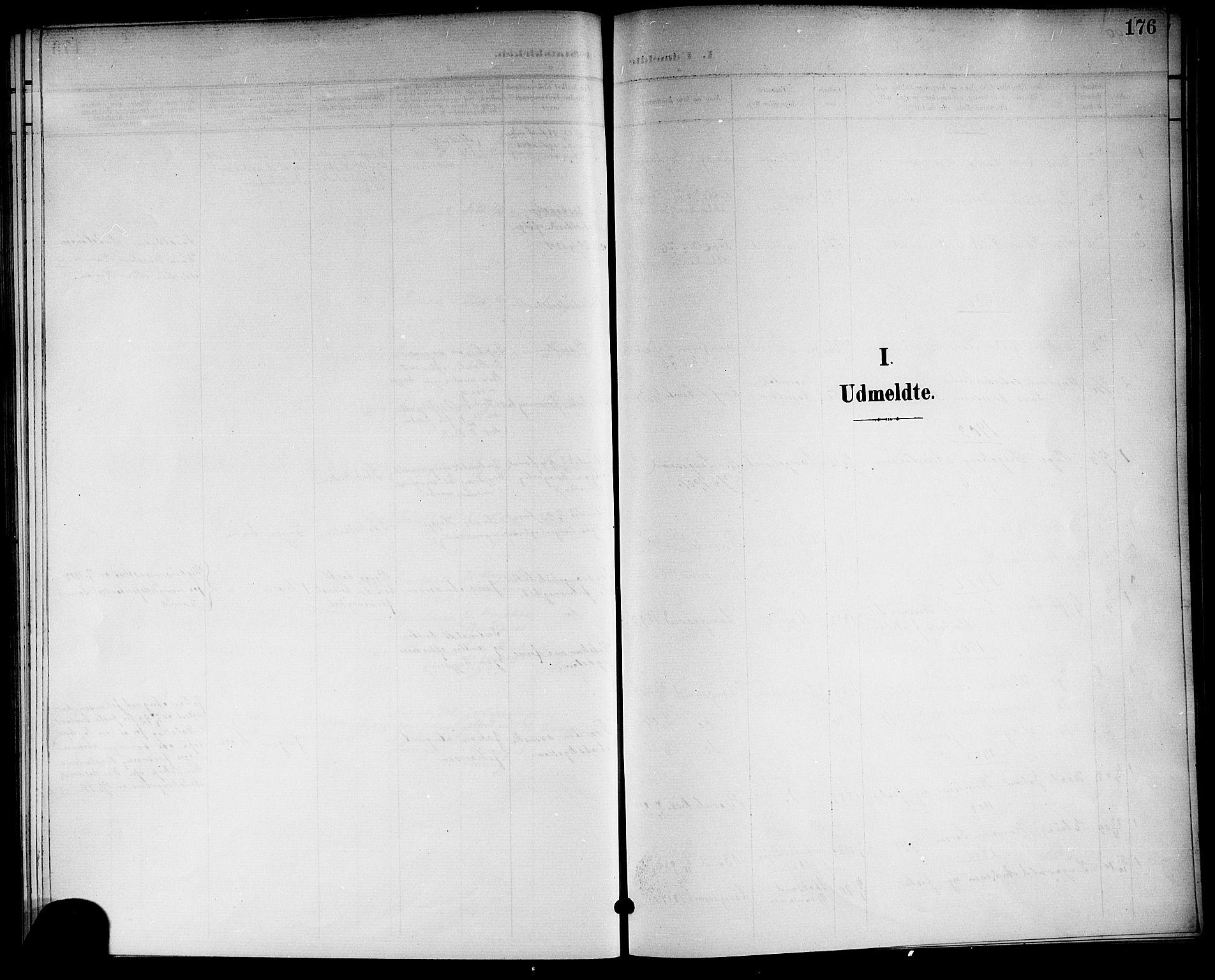 SAKO, Langesund kirkebøker, G/Ga/L0006: Klokkerbok nr. 6, 1899-1918, s. 176