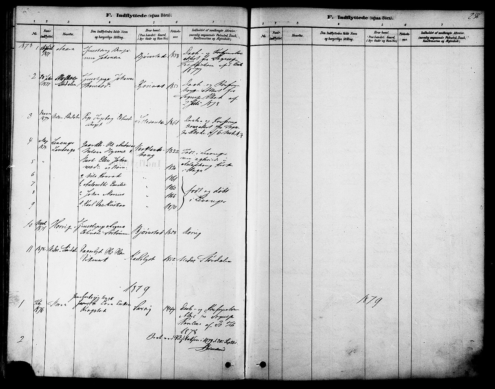 SAT, Ministerialprotokoller, klokkerbøker og fødselsregistre - Sør-Trøndelag, 616/L0410: Ministerialbok nr. 616A07, 1878-1893, s. 258