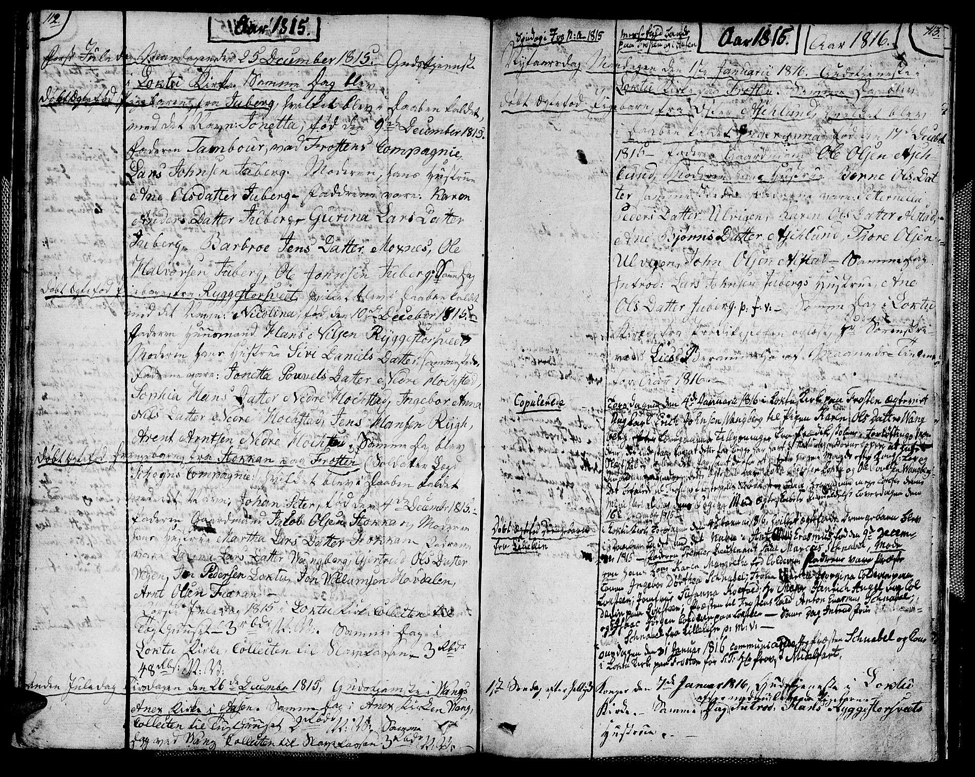 SAT, Ministerialprotokoller, klokkerbøker og fødselsregistre - Nord-Trøndelag, 713/L0111: Ministerialbok nr. 713A03, 1812-1816, s. 112-113
