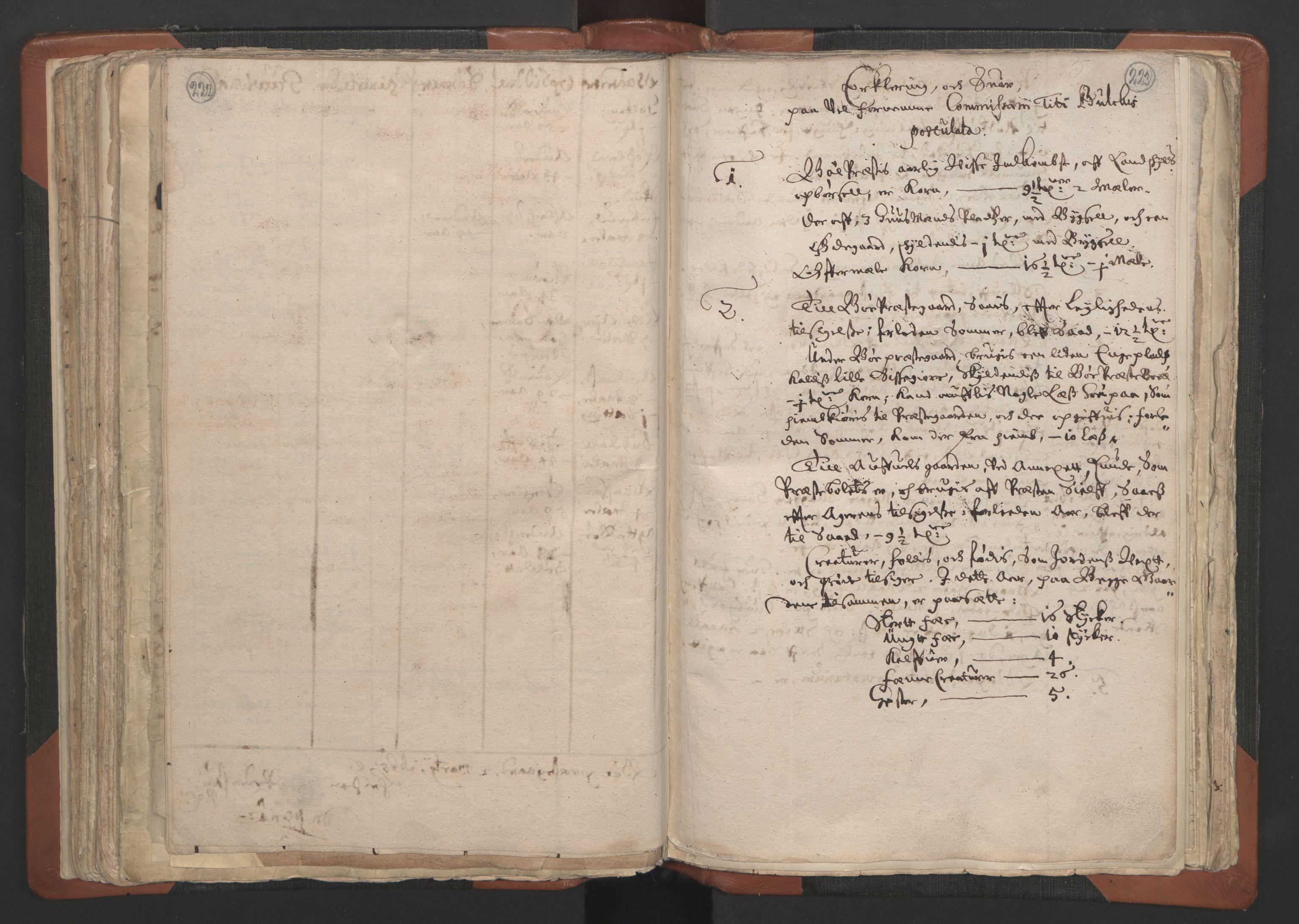 RA, Sogneprestenes manntall 1664-1666, nr. 12: Øvre Telemark prosti, Nedre Telemark prosti og Bamble prosti, 1664-1666, s. 222-223