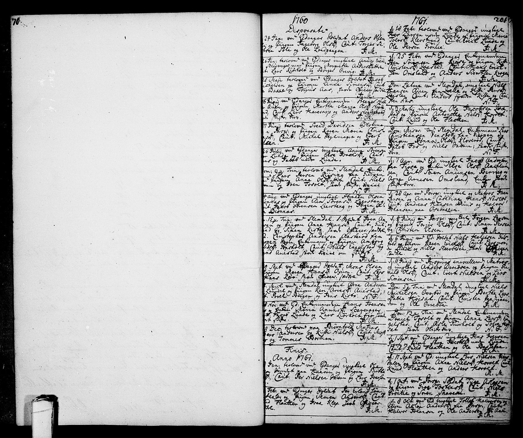 SAKO, Eidanger kirkebøker, F/Fa/L0005: Ministerialbok nr. 5, 1760-1764, s. 201