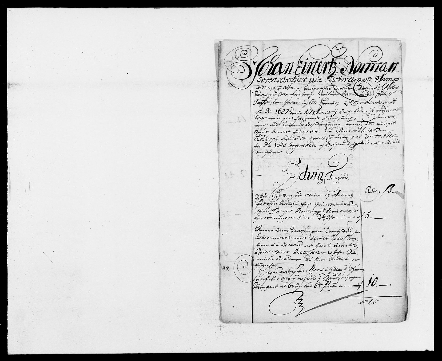 RA, Rentekammeret inntil 1814, Reviderte regnskaper, Fogderegnskap, R41/L2534: Fogderegnskap Lista, 1686-1688, s. 49
