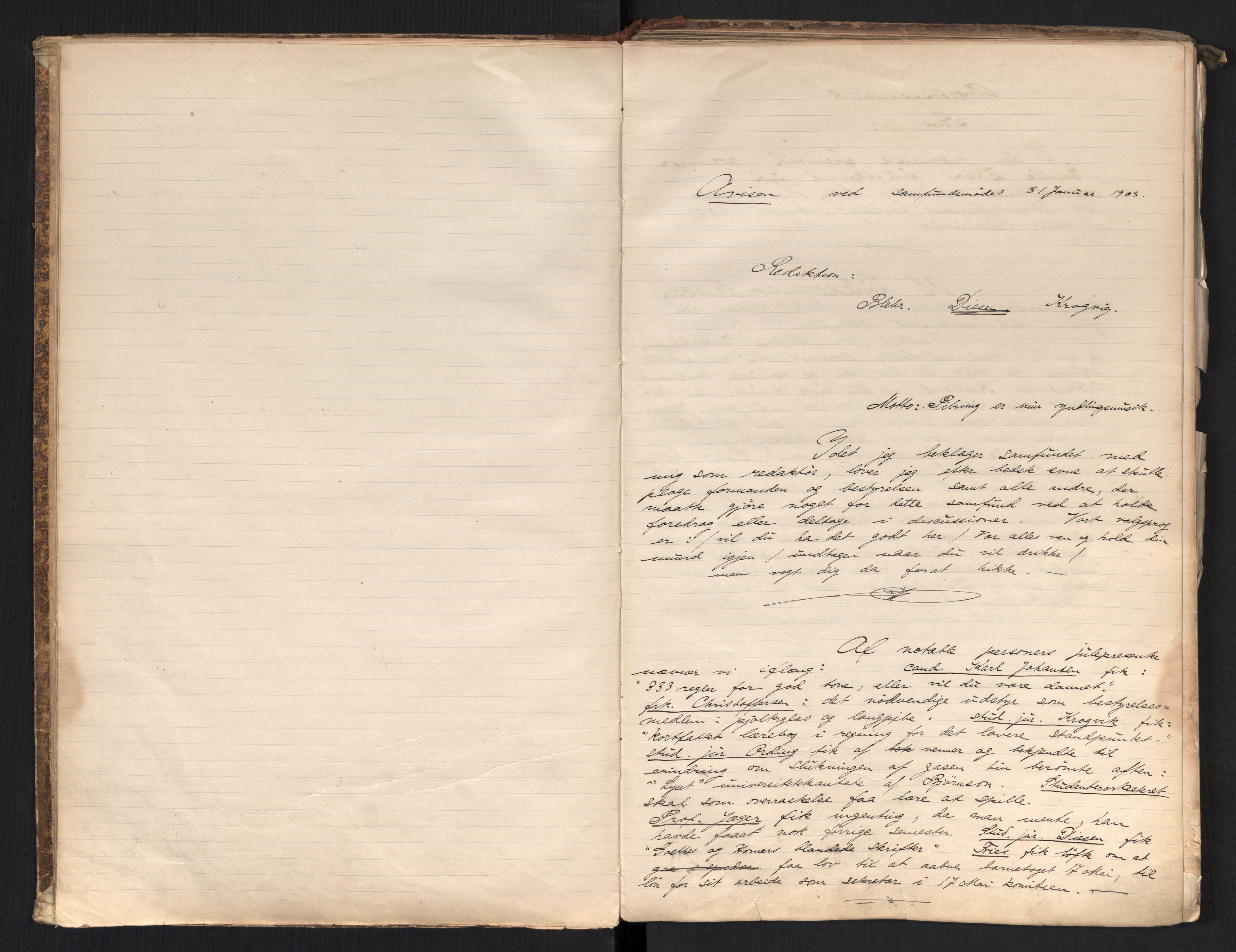 RA, Det Norske Studentersamfund, X/Xa/L0017, 1902-1904, s. 11