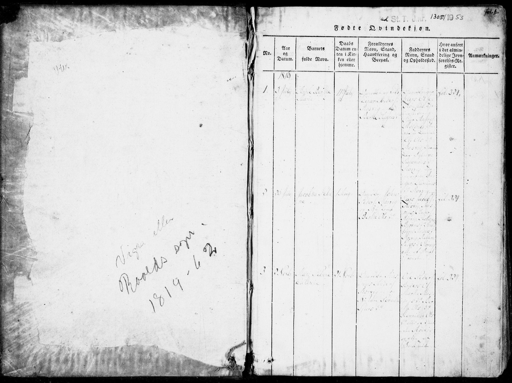 SAT, Ministerialprotokoller, klokkerbøker og fødselsregistre - Møre og Romsdal, 537/L0517: Ministerialbok nr. 537A01, 1818-1862, s. 1
