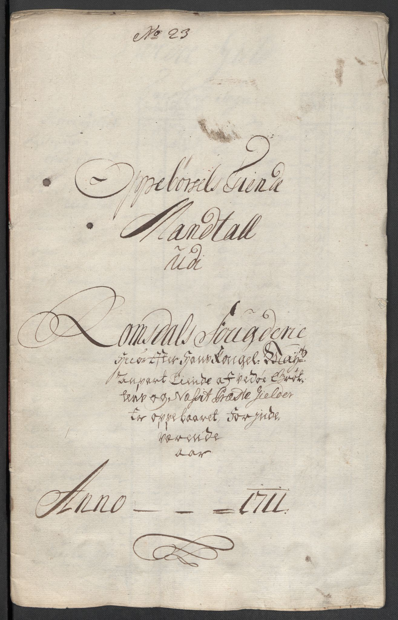 RA, Rentekammeret inntil 1814, Reviderte regnskaper, Fogderegnskap, R55/L3660: Fogderegnskap Romsdal, 1711, s. 385
