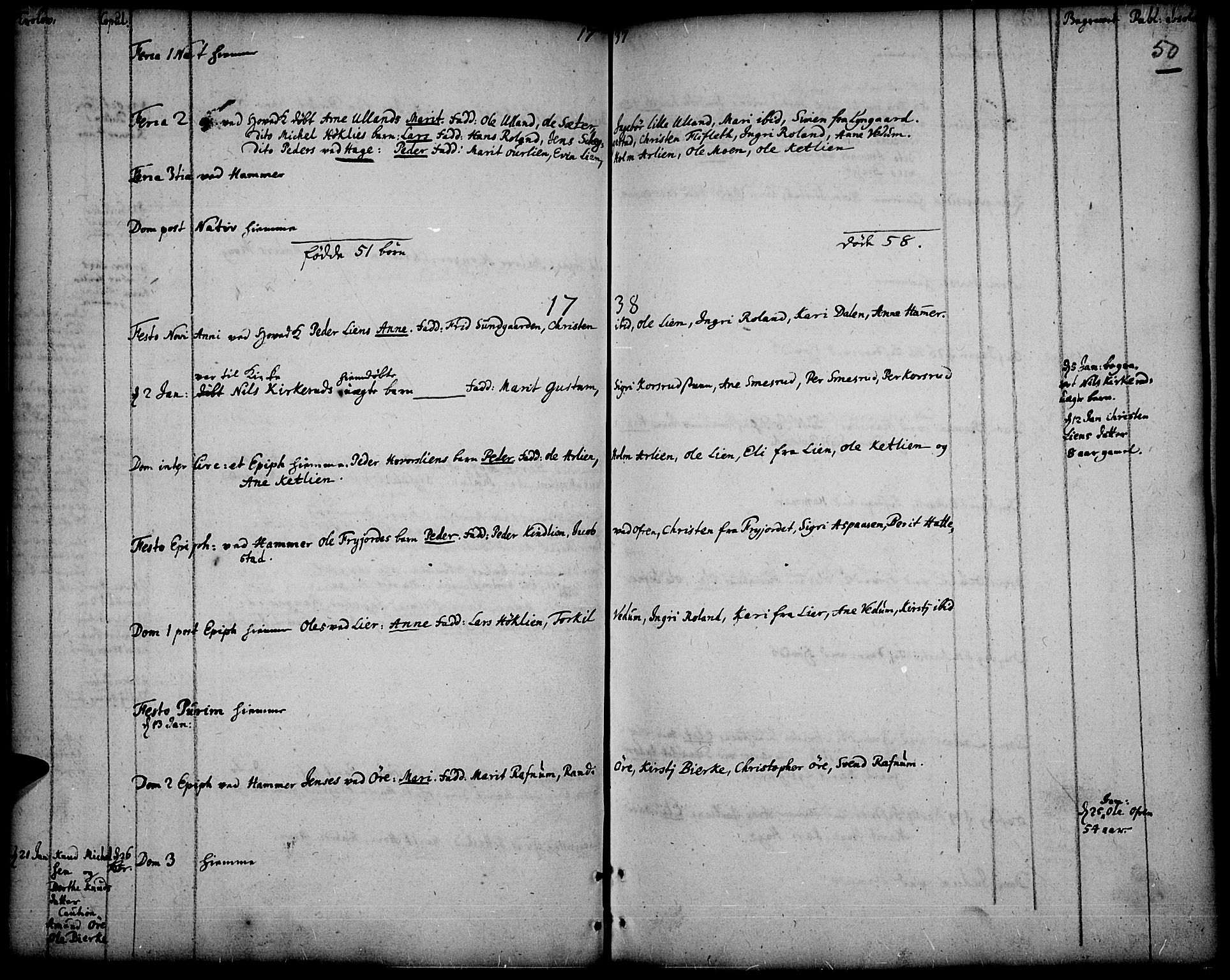 SAH, Fåberg prestekontor, Ministerialbok nr. 1, 1727-1775, s. 50