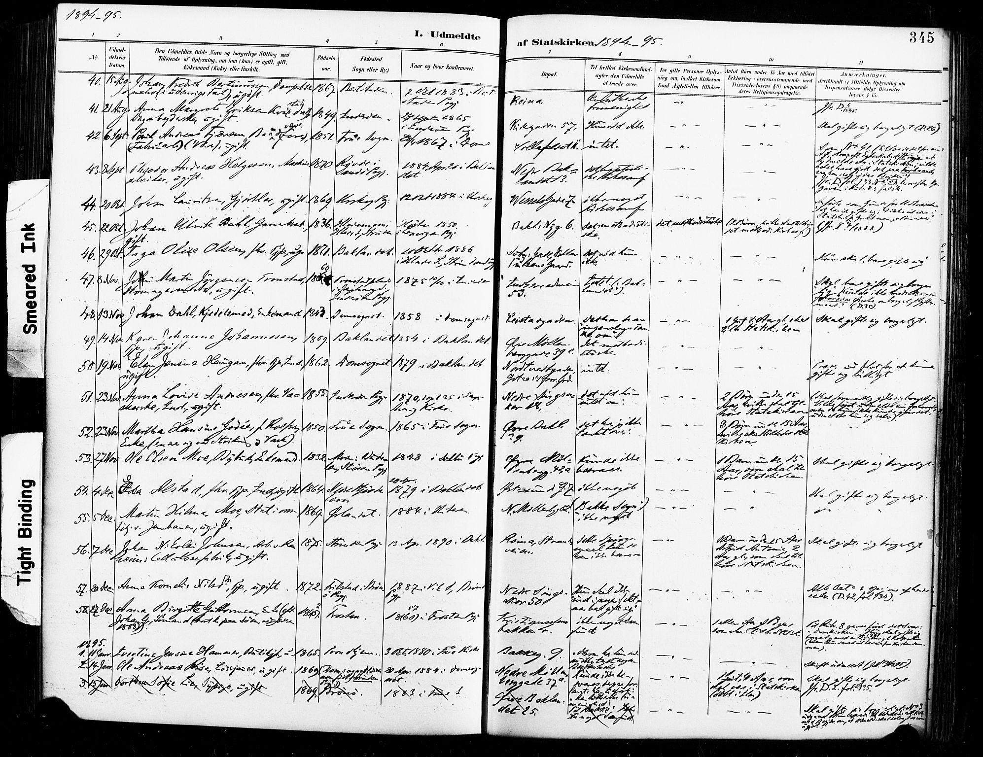 SAT, Ministerialprotokoller, klokkerbøker og fødselsregistre - Sør-Trøndelag, 604/L0198: Ministerialbok nr. 604A19, 1893-1900, s. 345