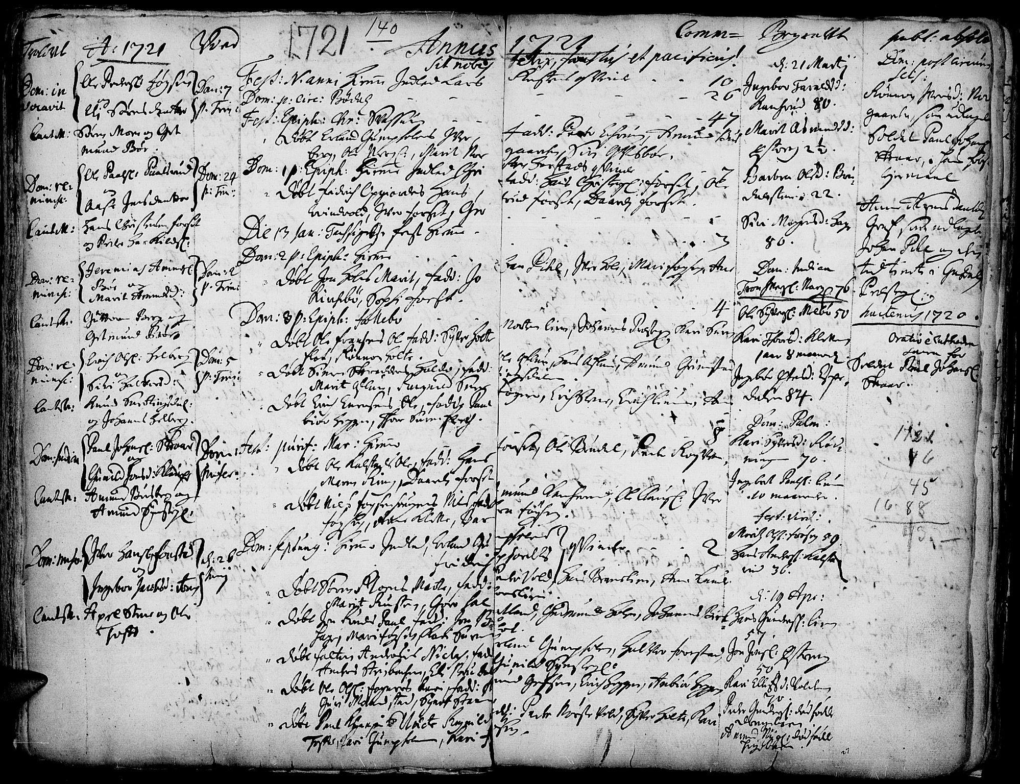 SAH, Gausdal prestekontor, Ministerialbok nr. 1, 1693-1728, s. 140
