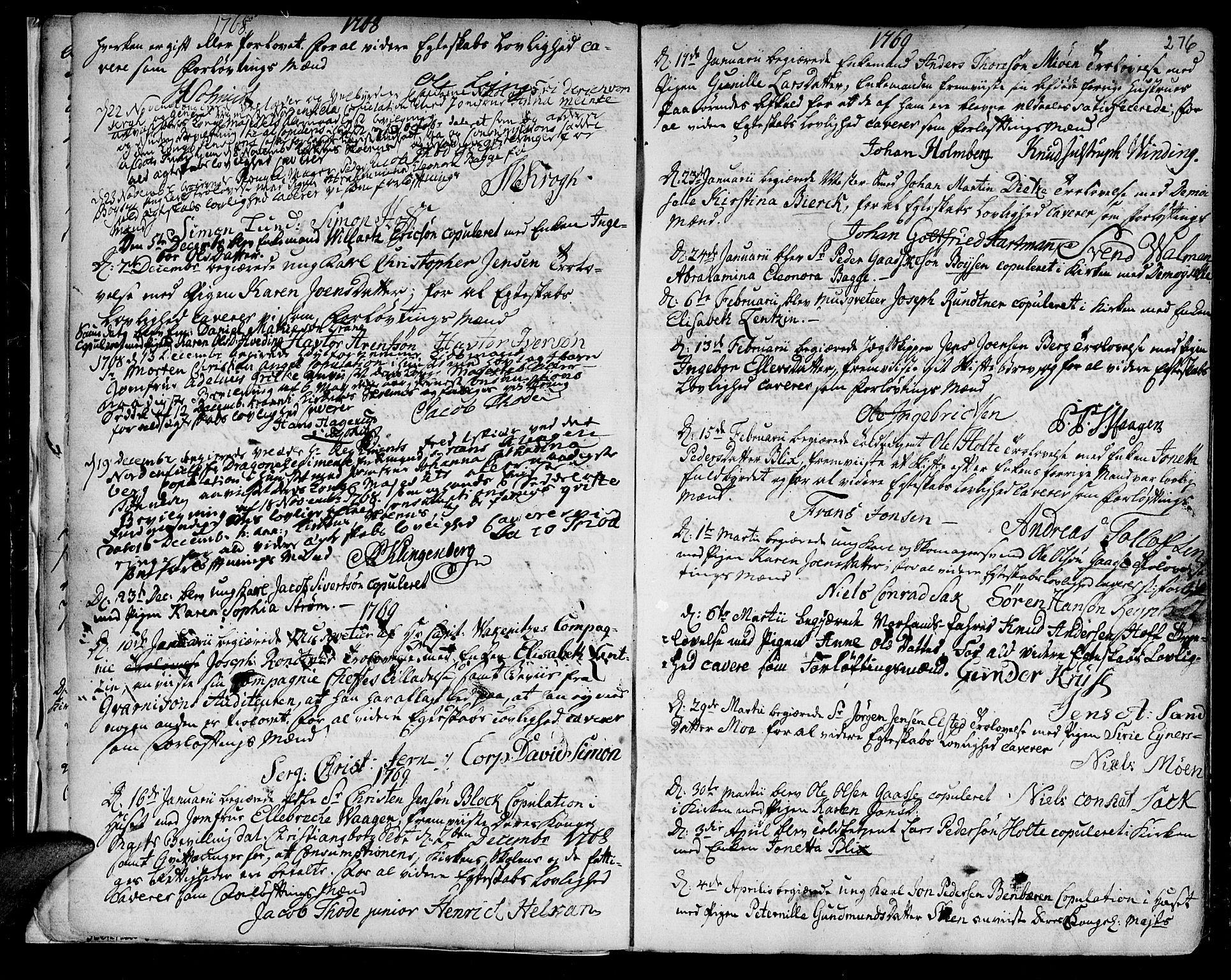 SAT, Ministerialprotokoller, klokkerbøker og fødselsregistre - Sør-Trøndelag, 601/L0038: Ministerialbok nr. 601A06, 1766-1877, s. 276