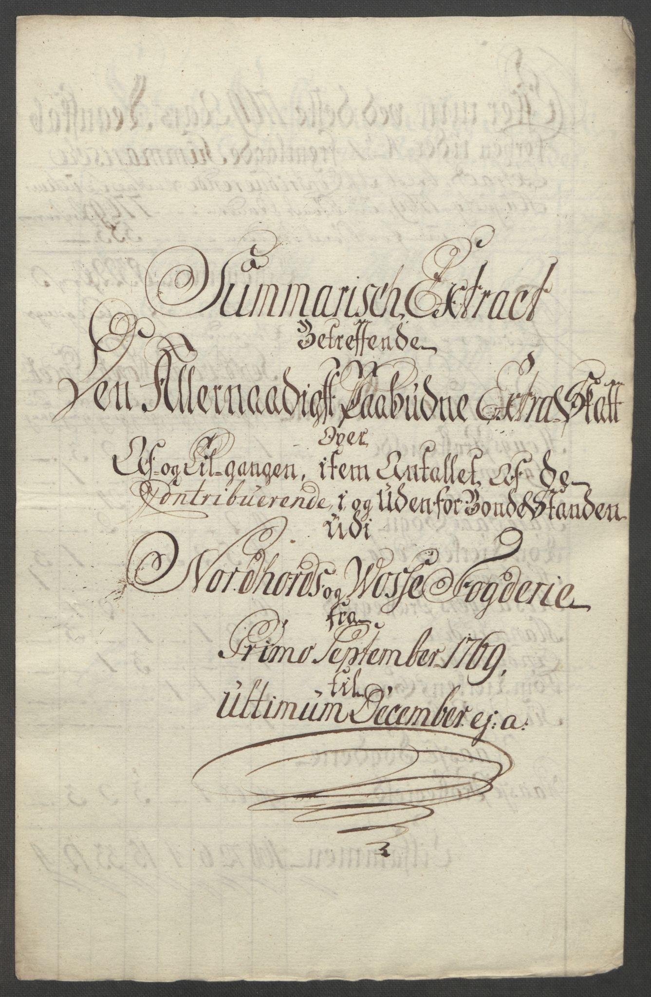 RA, Rentekammeret inntil 1814, Reviderte regnskaper, Fogderegnskap, R51/L3303: Ekstraskatten Nordhordland og Voss, 1762-1772, s. 352