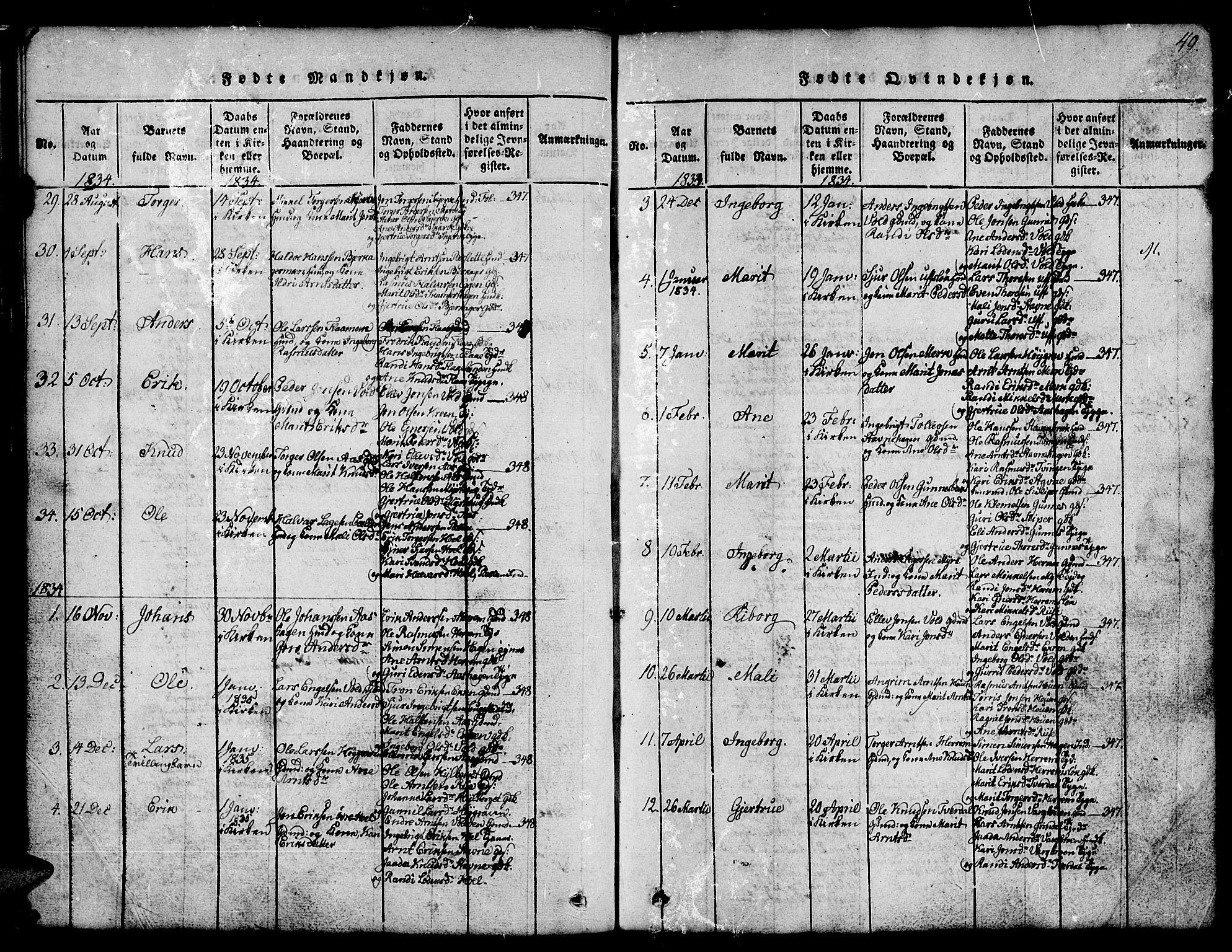 SAT, Ministerialprotokoller, klokkerbøker og fødselsregistre - Sør-Trøndelag, 674/L0874: Klokkerbok nr. 674C01, 1816-1860, s. 49