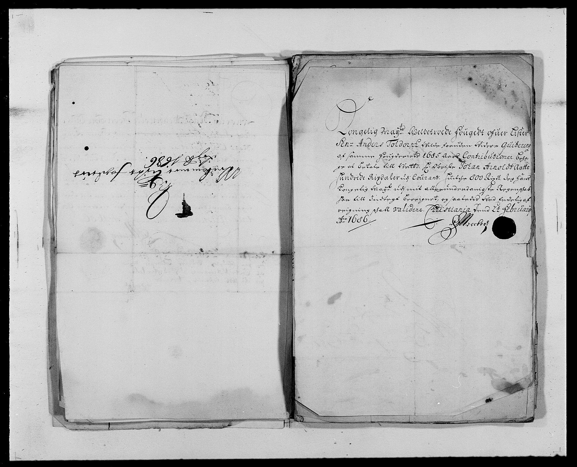 RA, Rentekammeret inntil 1814, Reviderte regnskaper, Fogderegnskap, R41/L2535: Fogderegnskap Lista, 1686-1689, s. 46