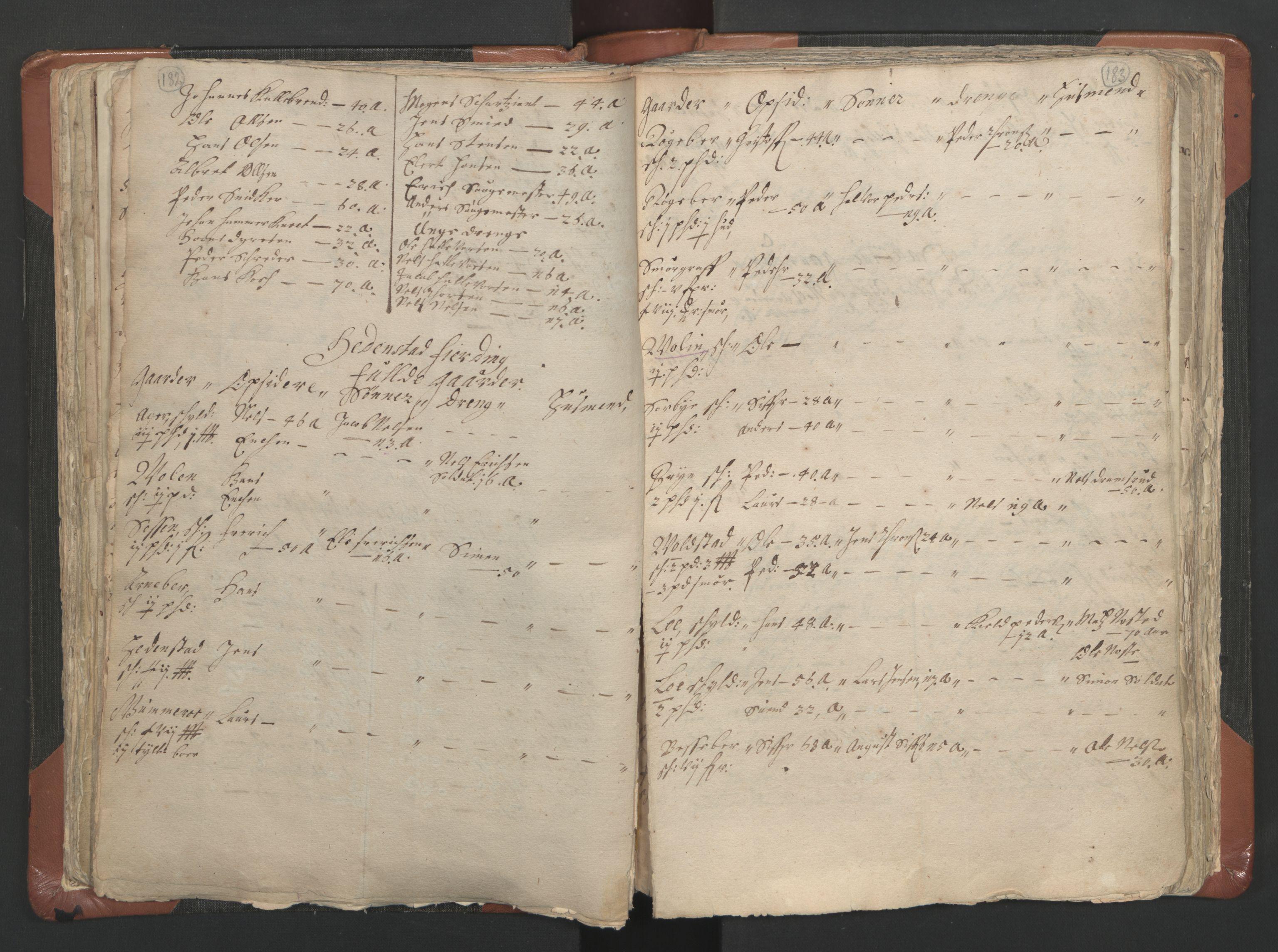 RA, Sogneprestenes manntall 1664-1666, nr. 9: Bragernes prosti, 1664-1666, s. 182-183