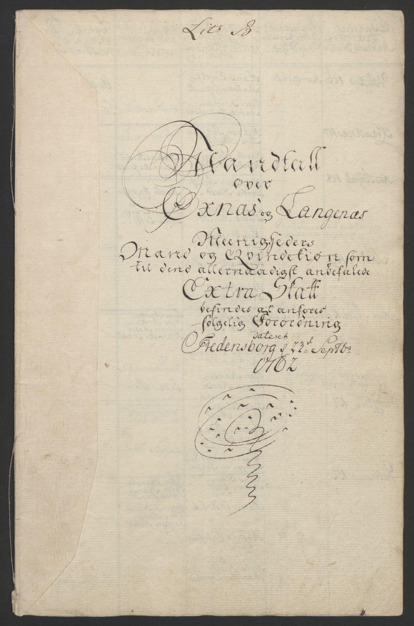 RA, Rentekammeret inntil 1814, Reviderte regnskaper, Fogderegnskap, R67/L4747: Ekstraskatten Vesterålen, Andenes og Lofoten, 1762-1766, s. 64