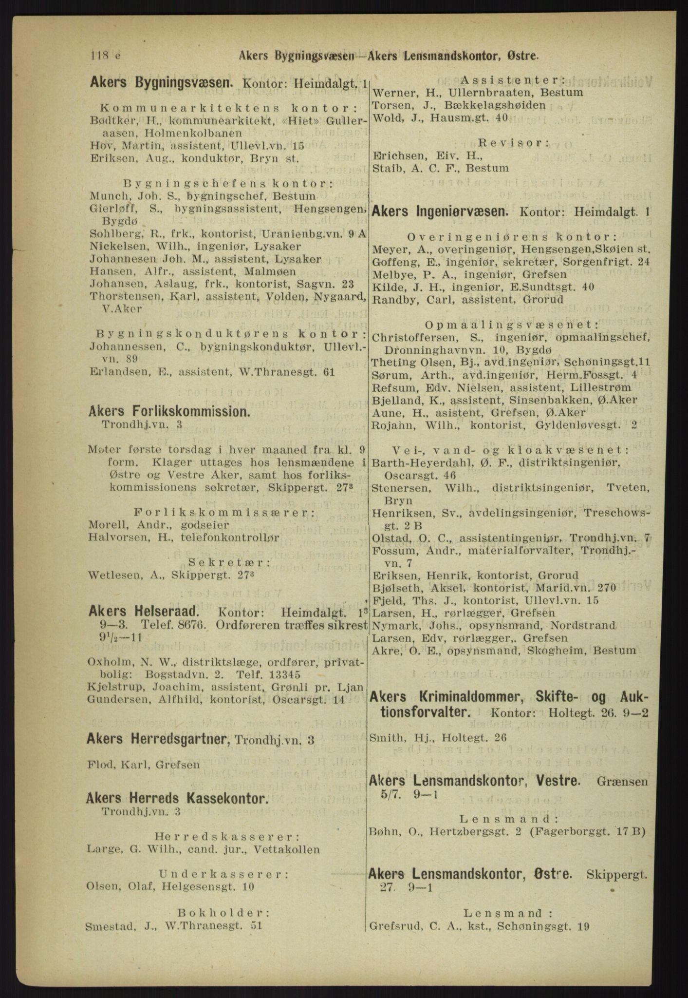 PUBL, Kristiania/Oslo adressebok, 1918, s. 129
