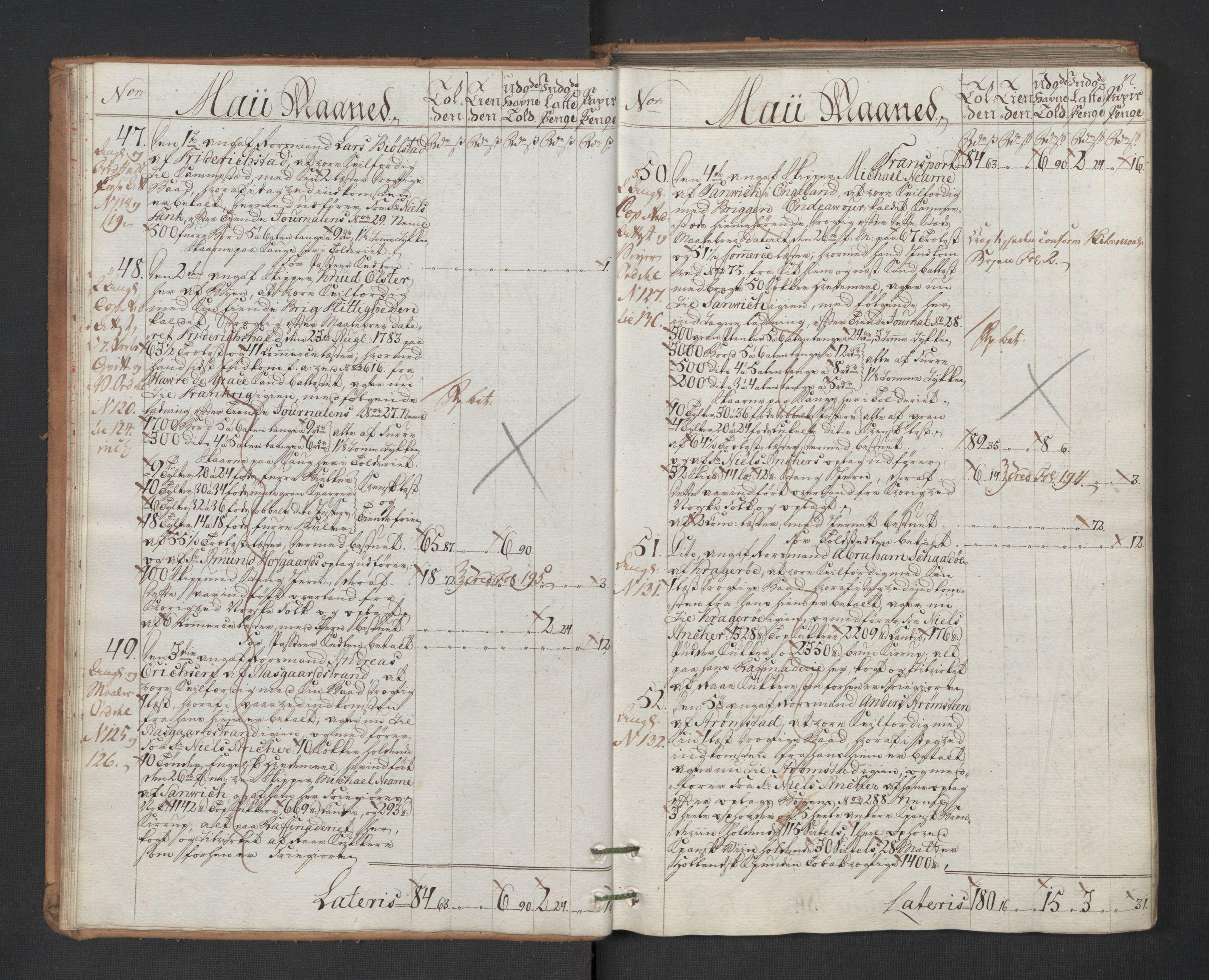 RA, Generaltollkammeret, tollregnskaper, R01/L0131: Tollregnskaper Fredrikshald, 1786, s. 11b-12a