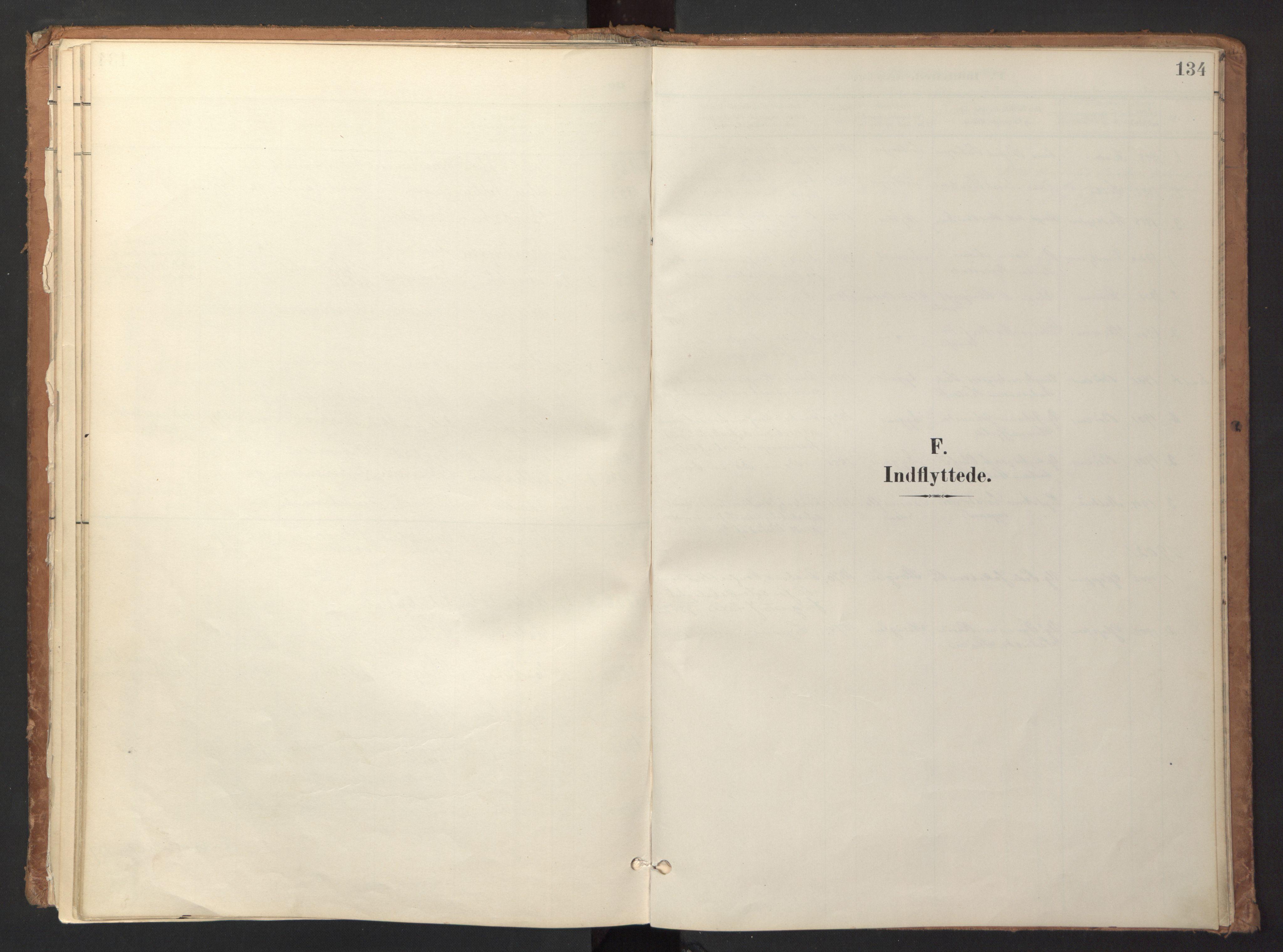 SAT, Ministerialprotokoller, klokkerbøker og fødselsregistre - Sør-Trøndelag, 618/L0448: Ministerialbok nr. 618A11, 1898-1916, s. 134