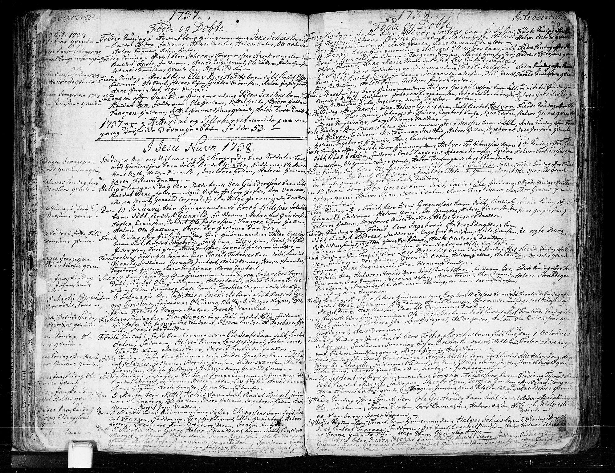 SAKO, Heddal kirkebøker, F/Fa/L0003: Ministerialbok nr. I 3, 1723-1783, s. 70