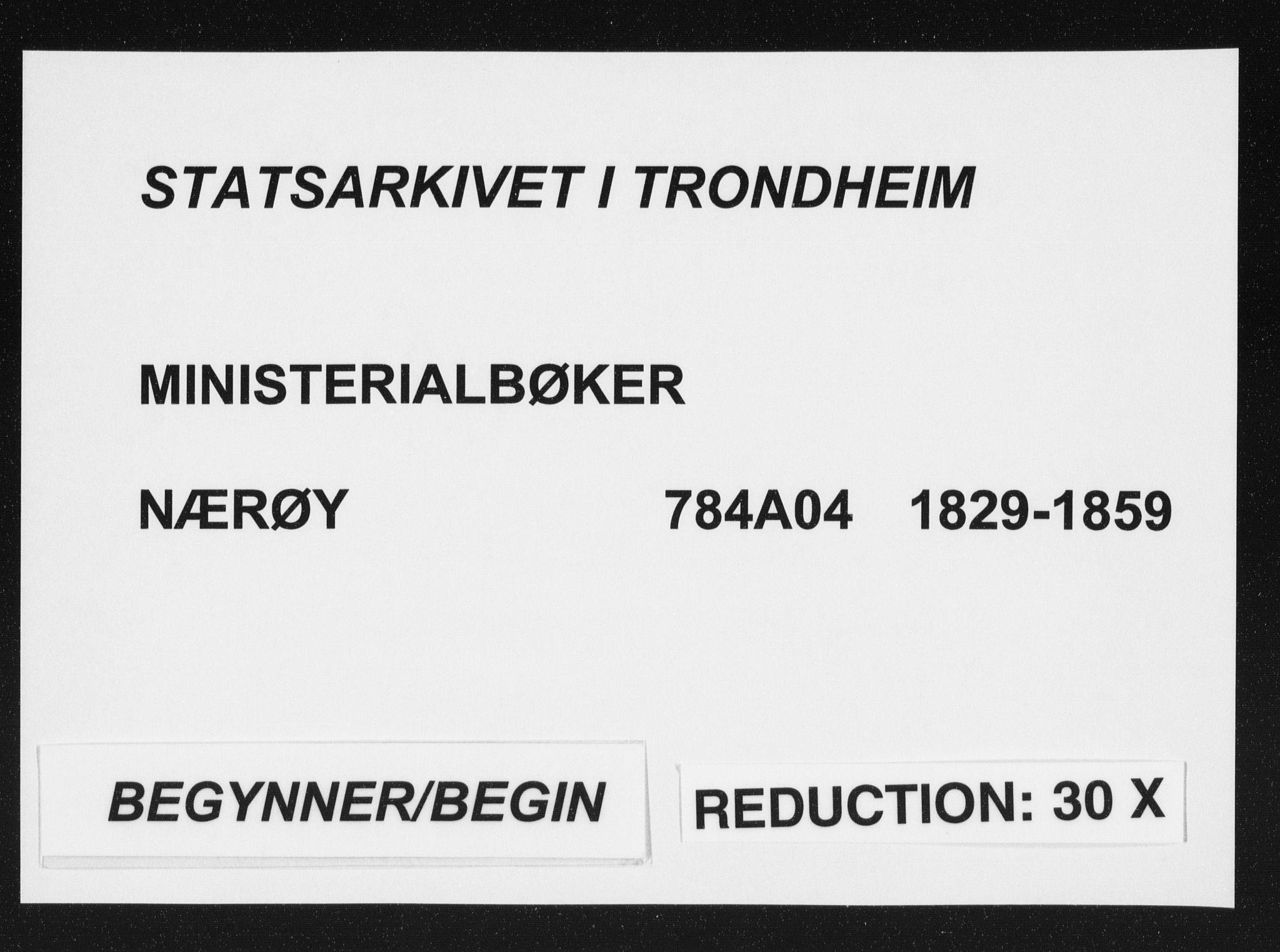 SAT, Ministerialprotokoller, klokkerbøker og fødselsregistre - Nord-Trøndelag, 784/L0669: Ministerialbok nr. 784A04, 1829-1859